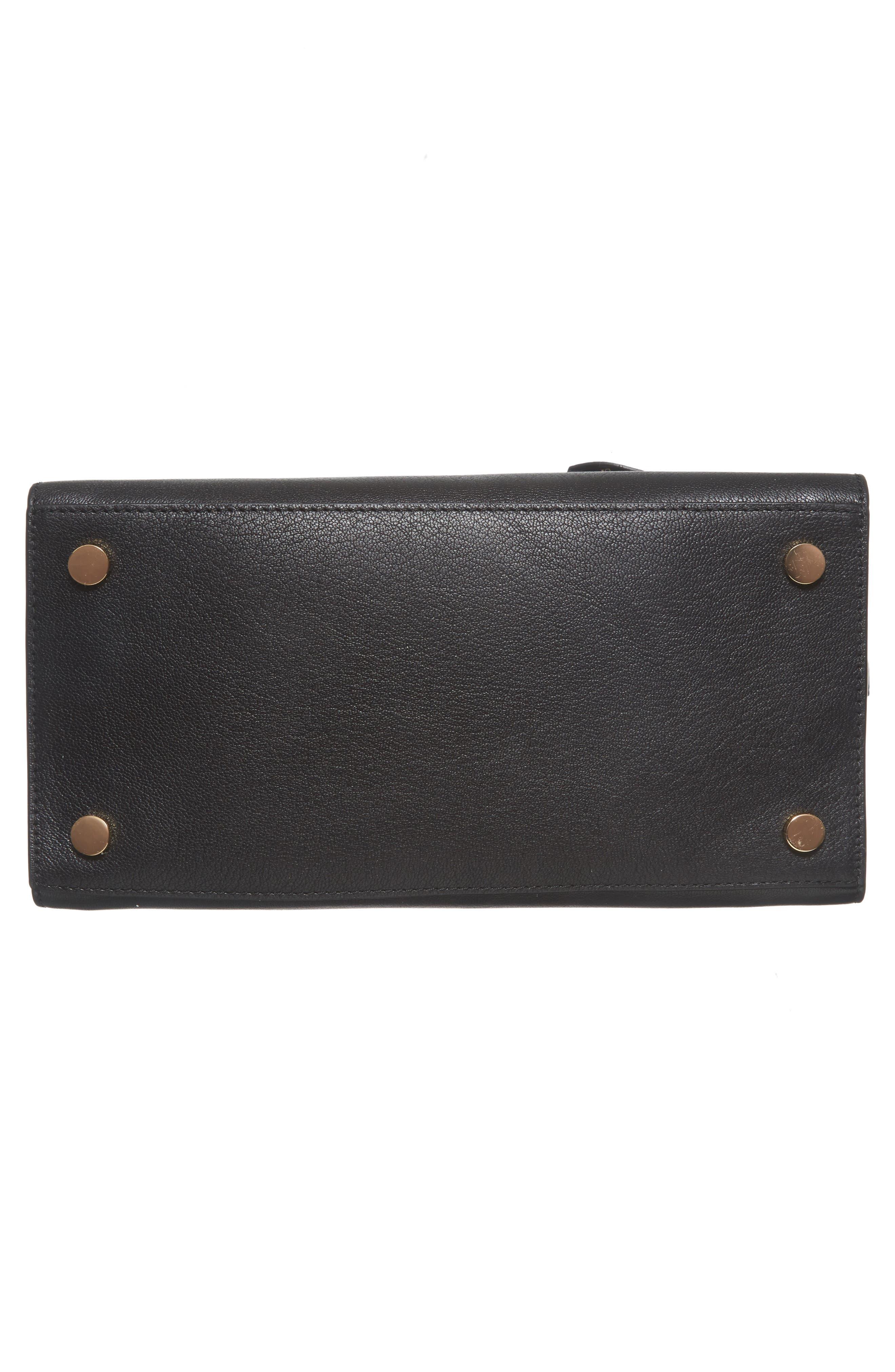 Large Hamilton Leather Tote,                             Alternate thumbnail 5, color,                             Black
