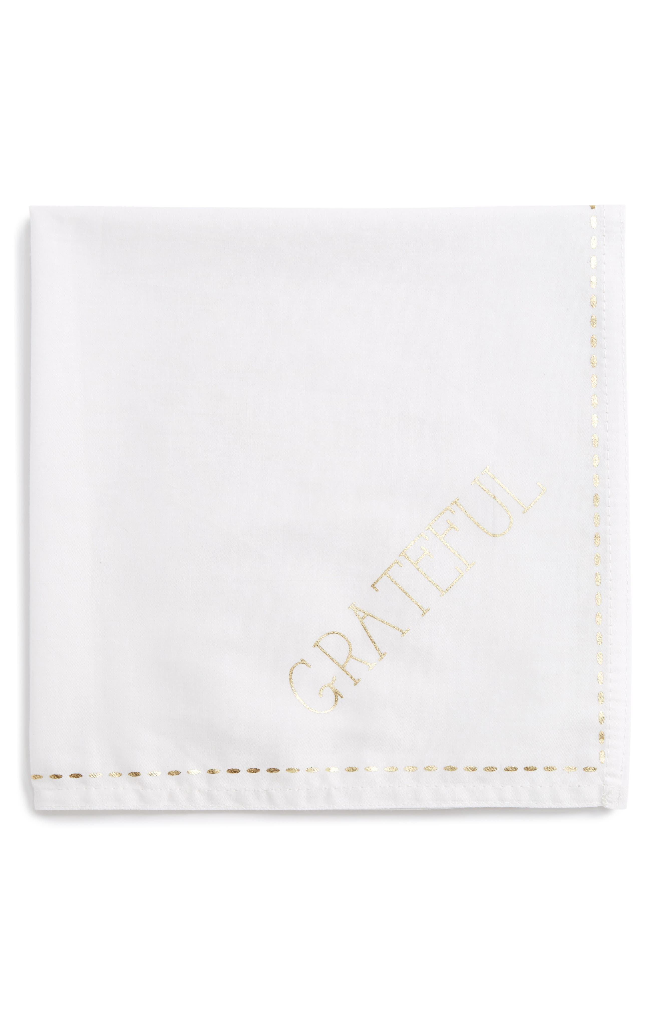 Grateful Napkin,                             Main thumbnail 1, color,                             Ivory