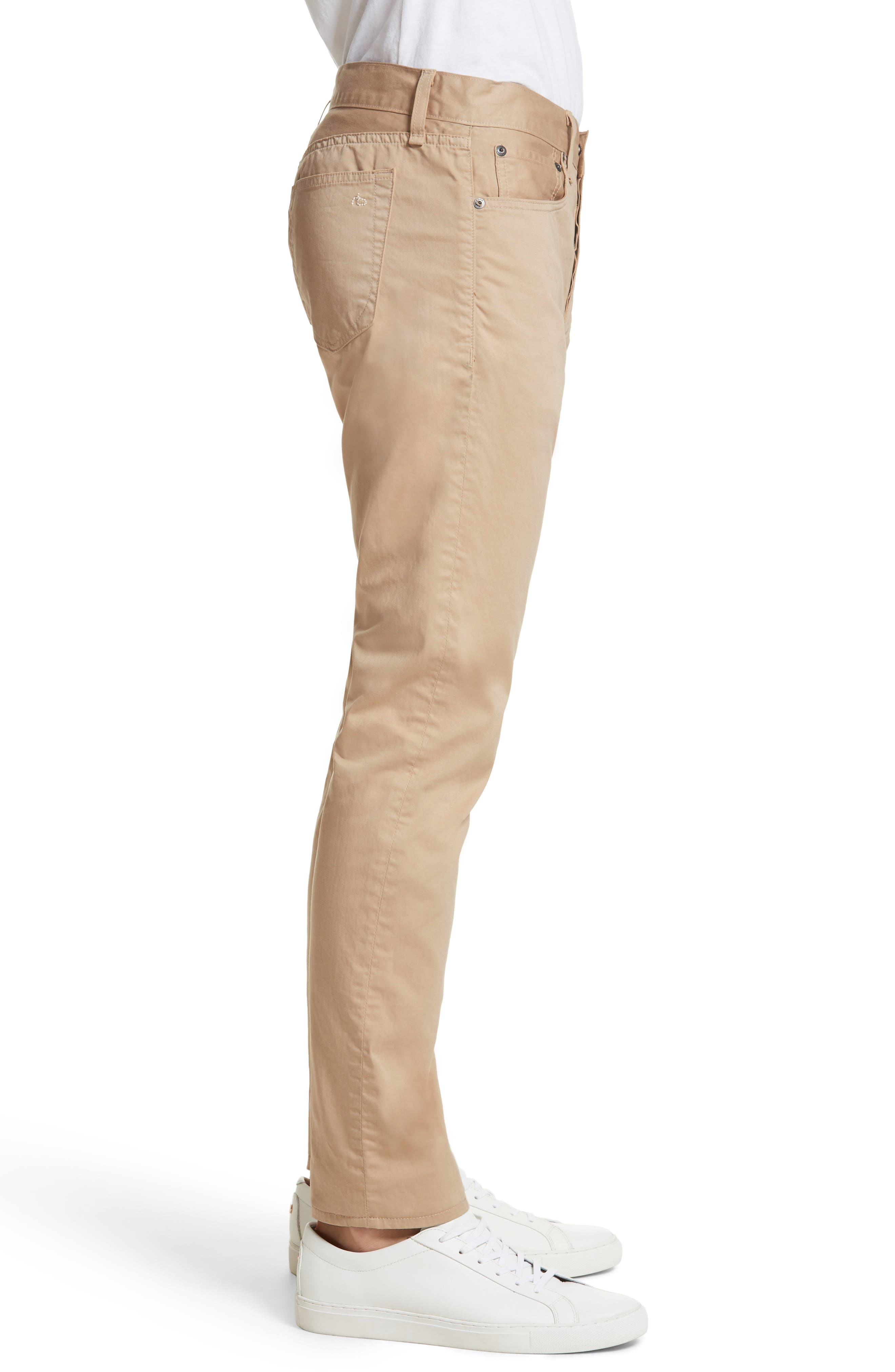 Fit 2 Five-Pocket Twill Pants,                             Alternate thumbnail 3, color,                             Beige