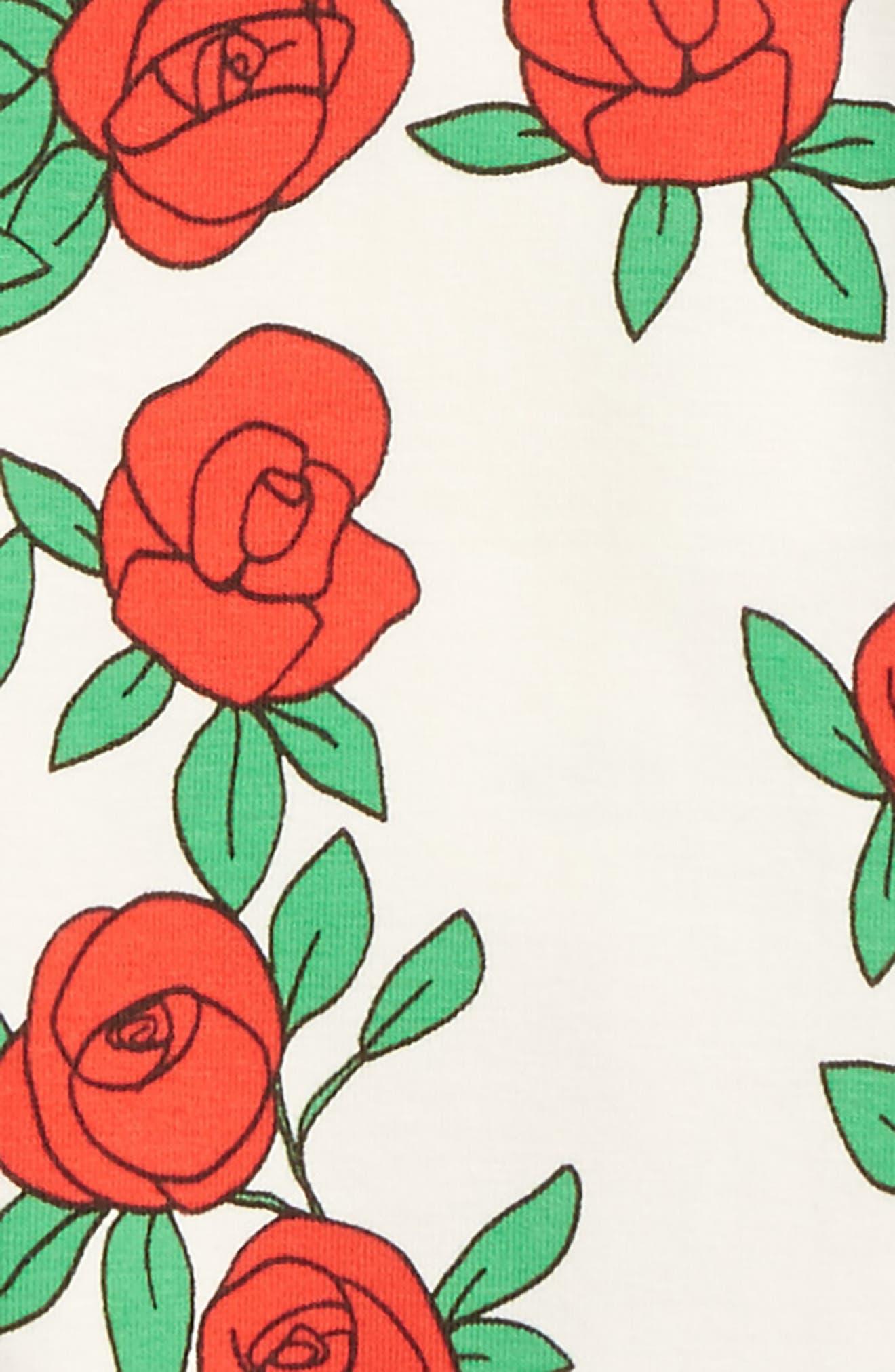 Alternate Image 2  - Mini Rodini Rose Graphic Tee (Baby Girls)