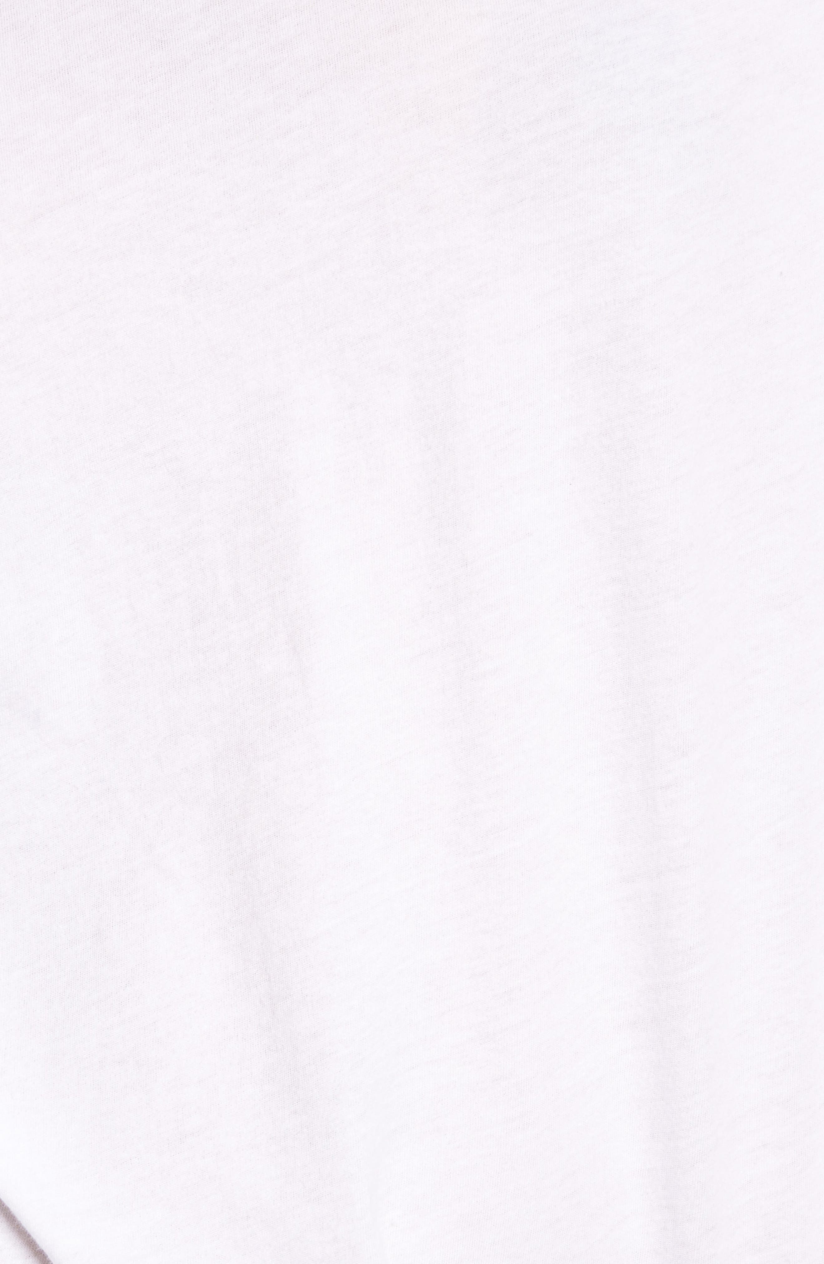 Ruffle Sleeve Tee,                             Alternate thumbnail 5, color,                             White