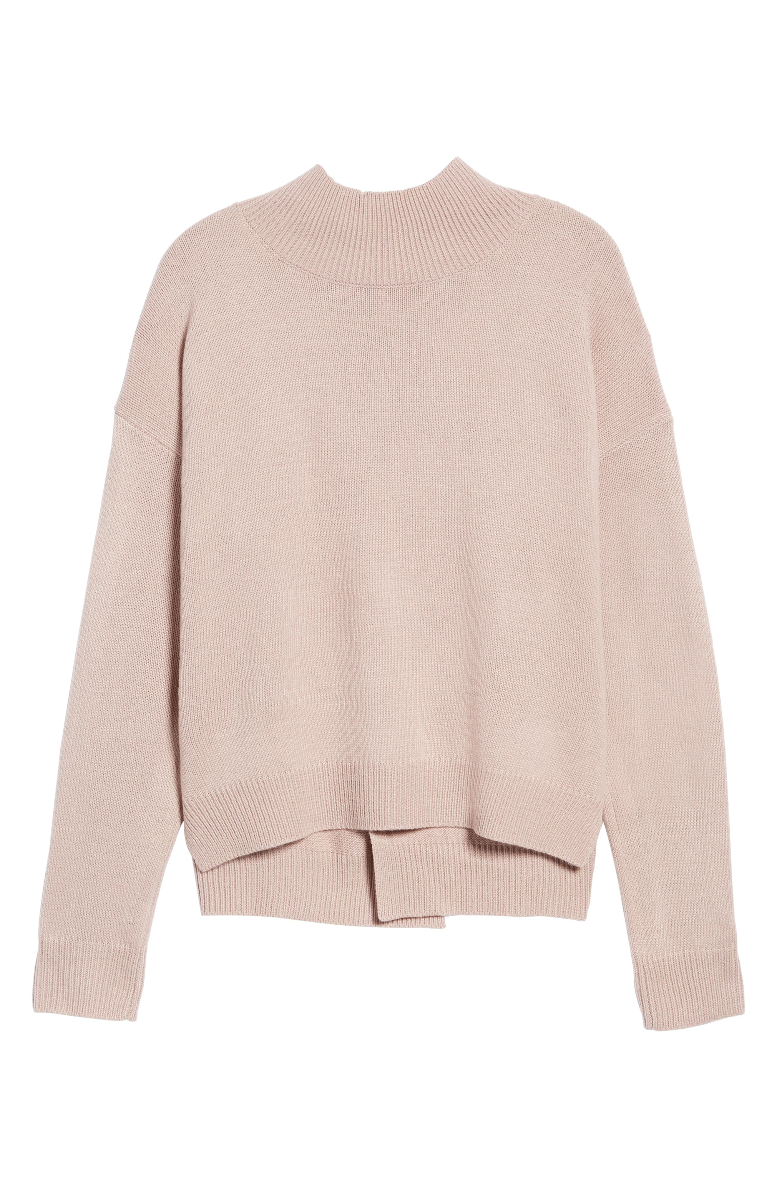 Oversize Sweater,                             Alternate thumbnail 6, color,                             Pink