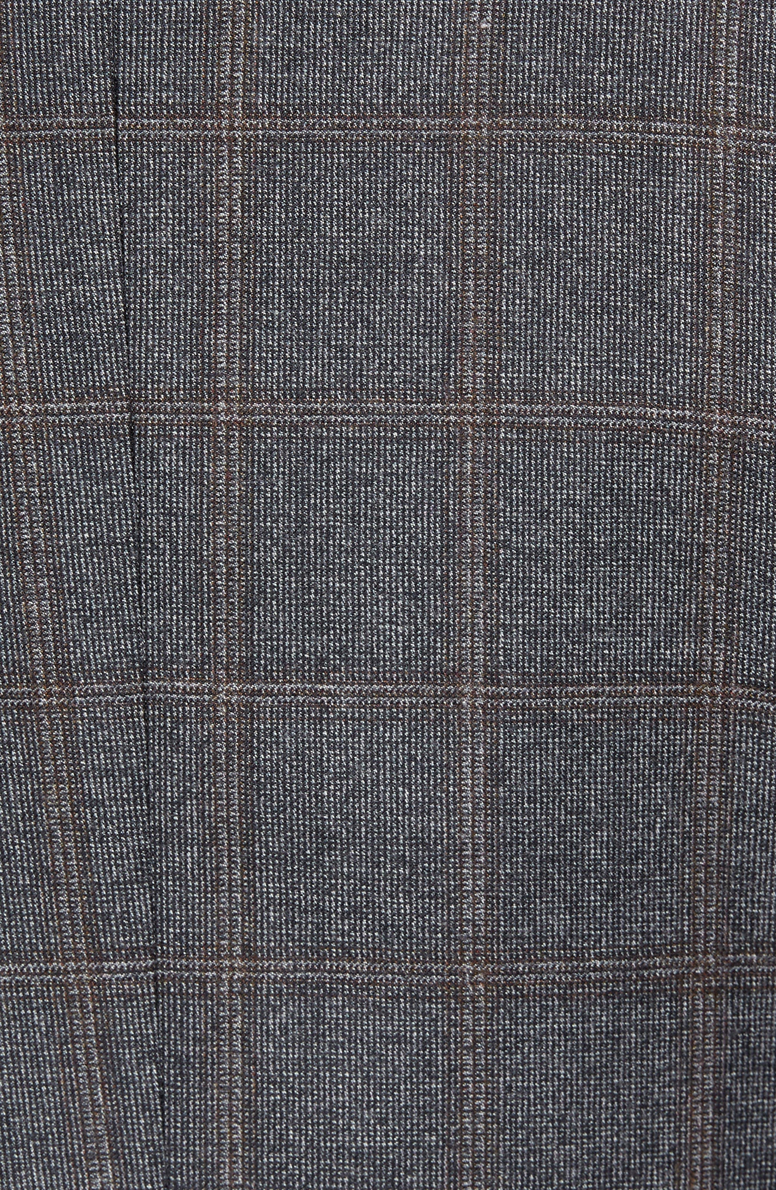 Trim Fit Plaid Wool Suit,                             Alternate thumbnail 7, color,                             Grey