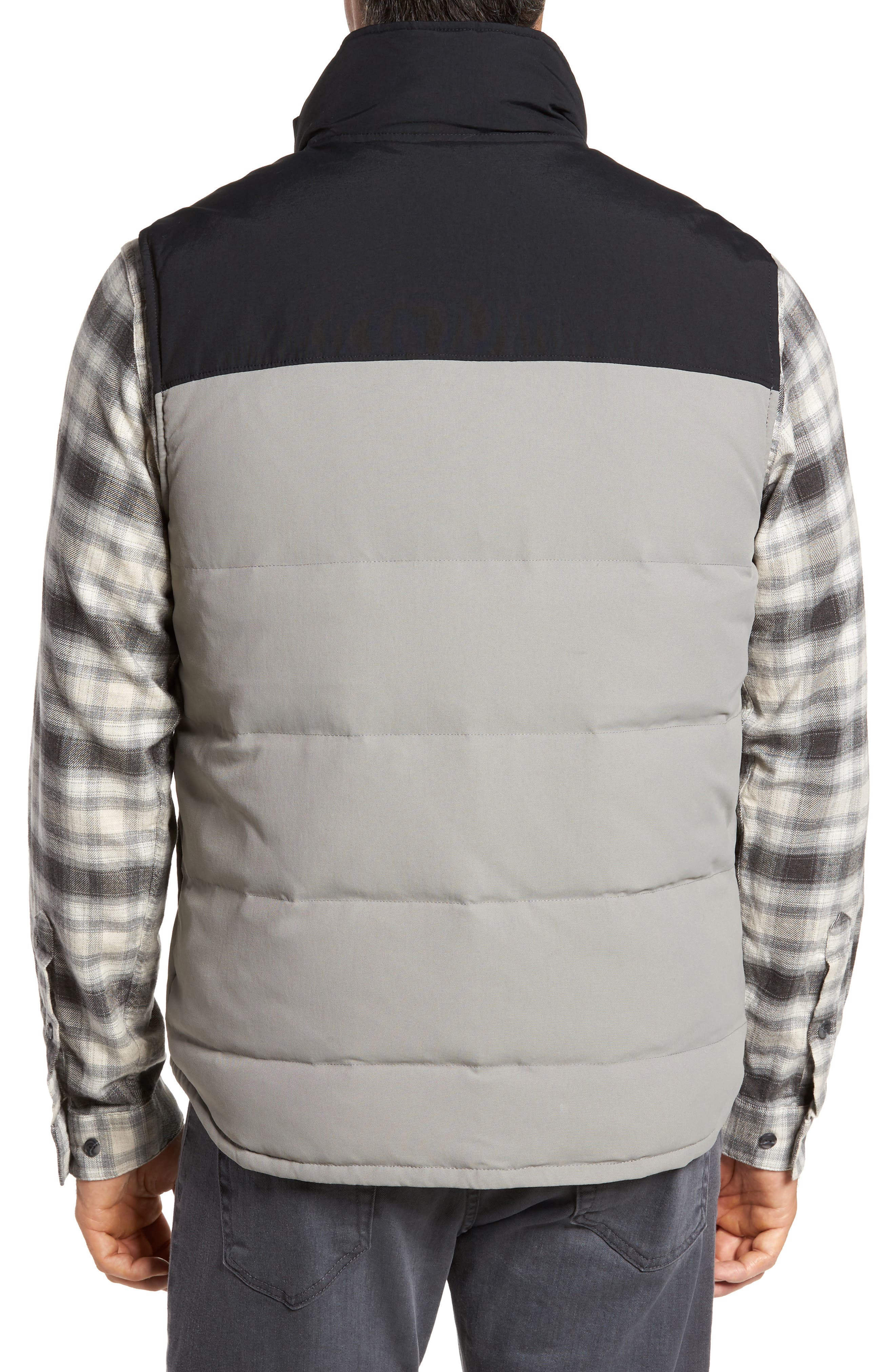 'Bivy' Reversible Down Fill Vest,                             Alternate thumbnail 3, color,                             Feather Grey