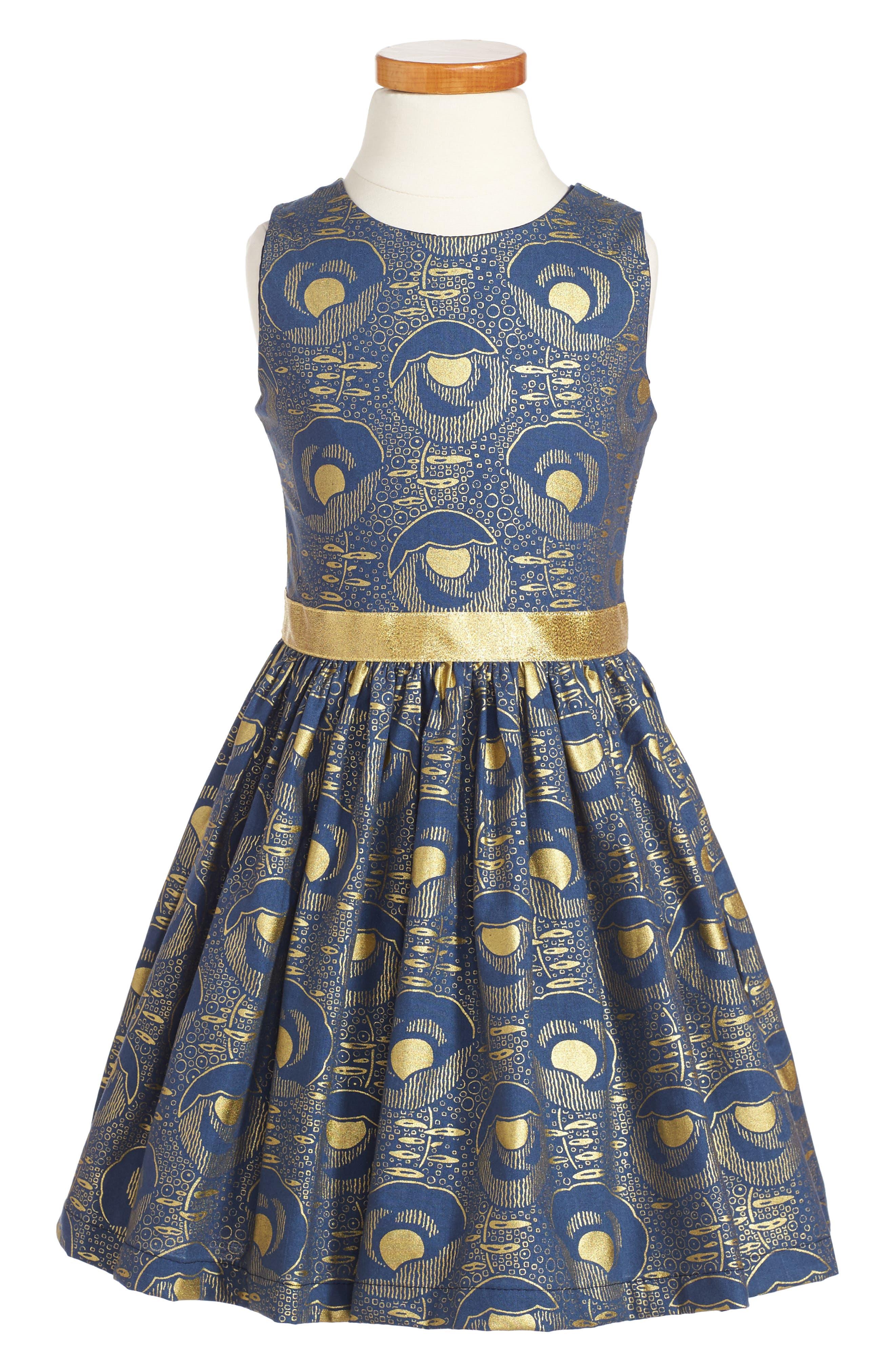 Fiveloaves Twofish Mollie Art Noveau Party Dress (Toddler Girls, Little Girls & Big Girls)