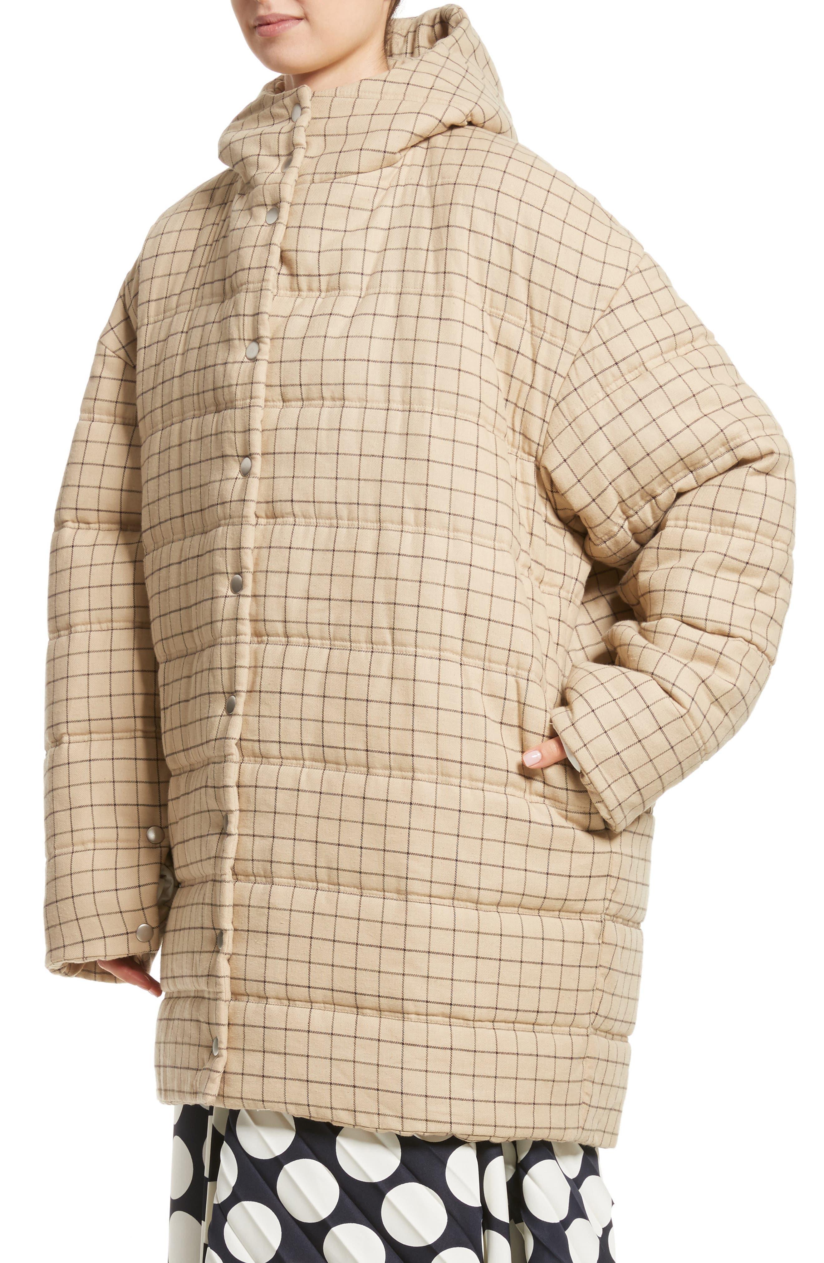 Alternate Image 4  - A.W.A.K.E. Check Puffer Coat