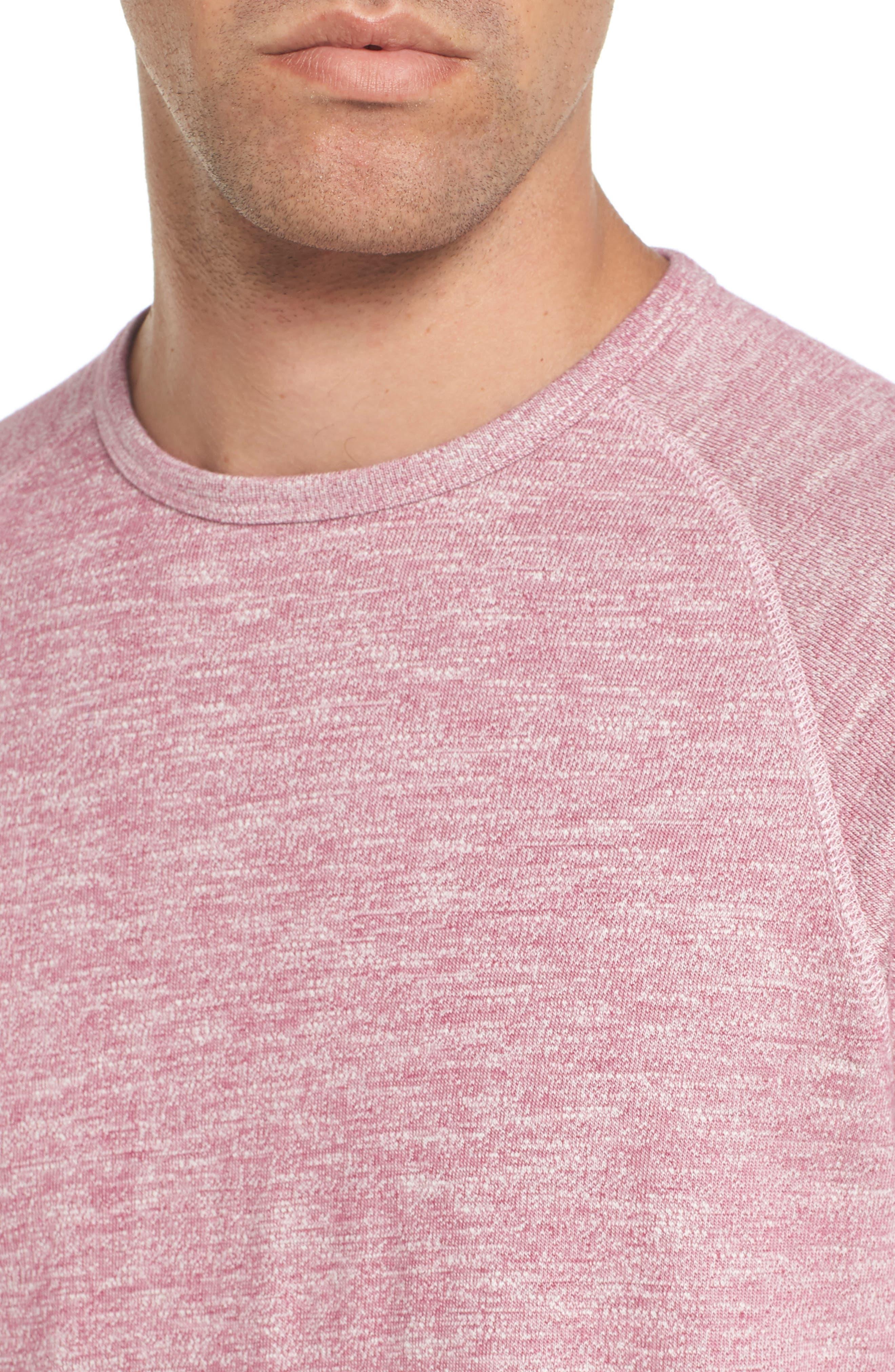 Slim Fit Stripe T-Shirt,                             Alternate thumbnail 4, color,                             Heather Berry