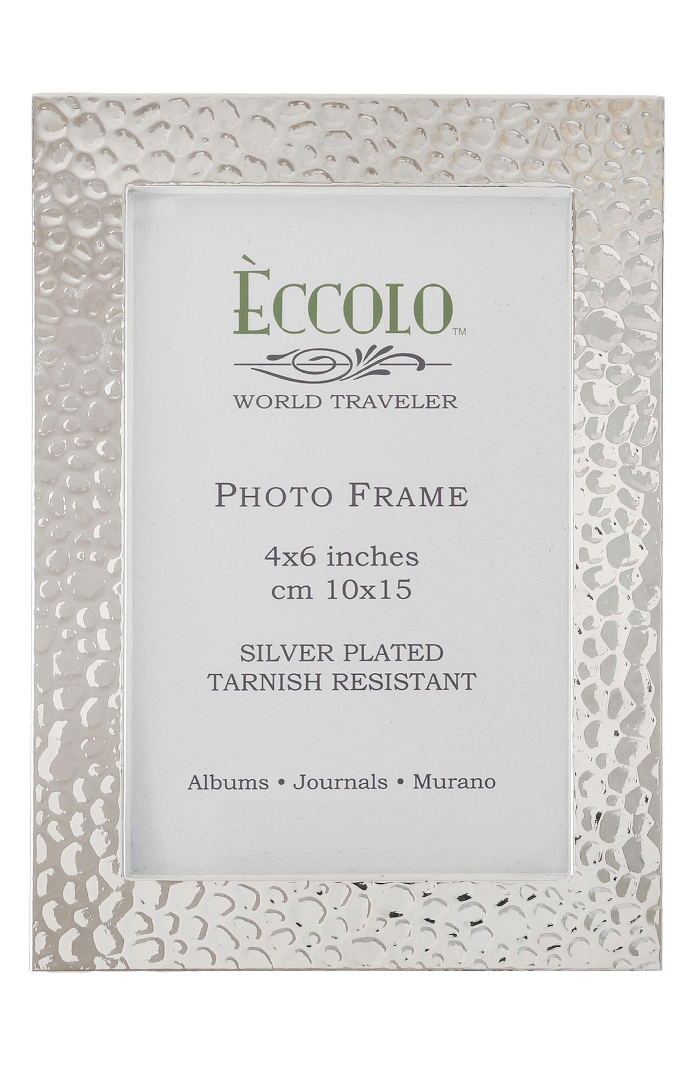Eccolo Hammered Silver Picture Frame