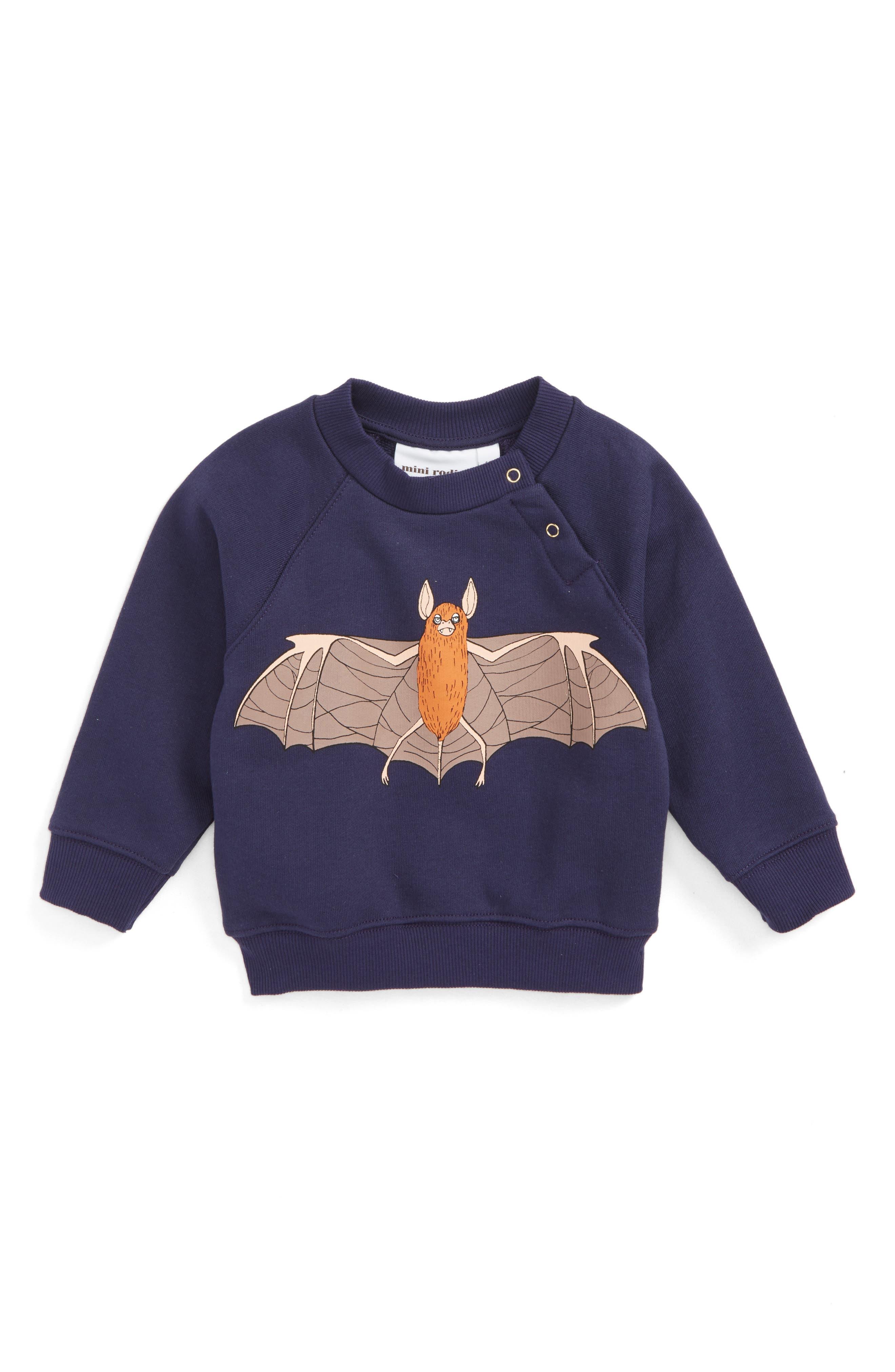 Flying Bad Graphic Sweatshirt,                         Main,                         color, Navy