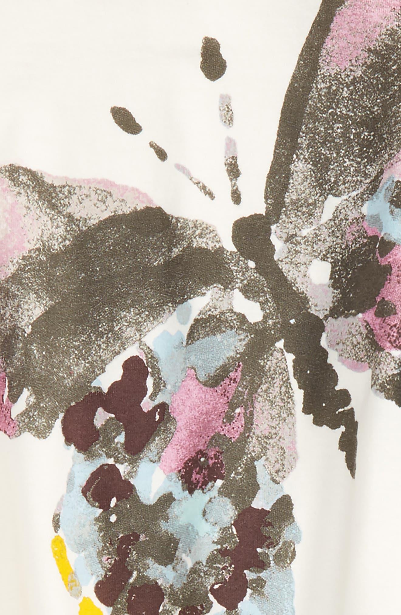 Woodland Butterfly Tunic & Leggings Set,                             Alternate thumbnail 2, color,                             Eggshell