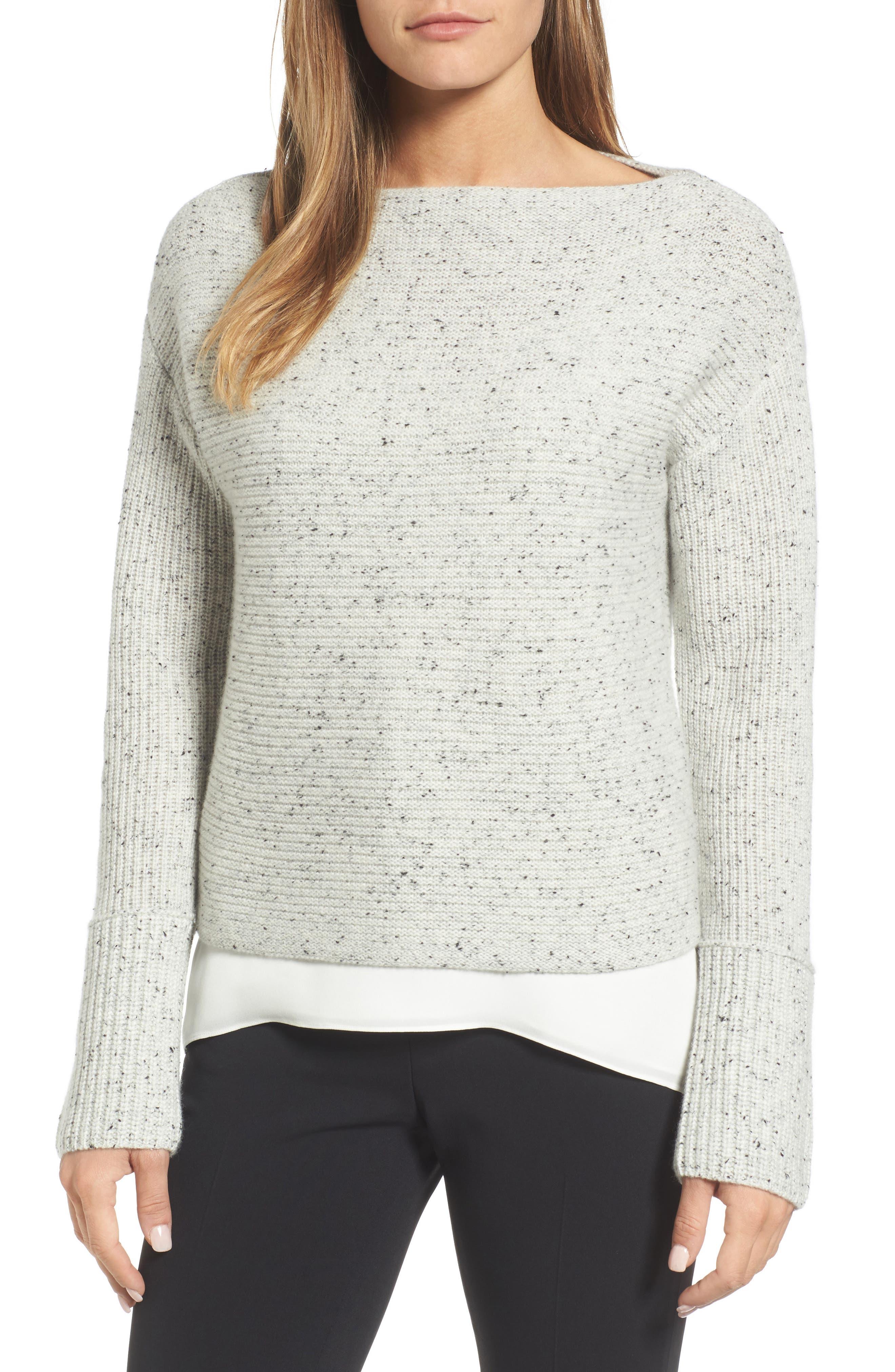 Main Image - Nordstrom Signature Textured Cashmere Sweater