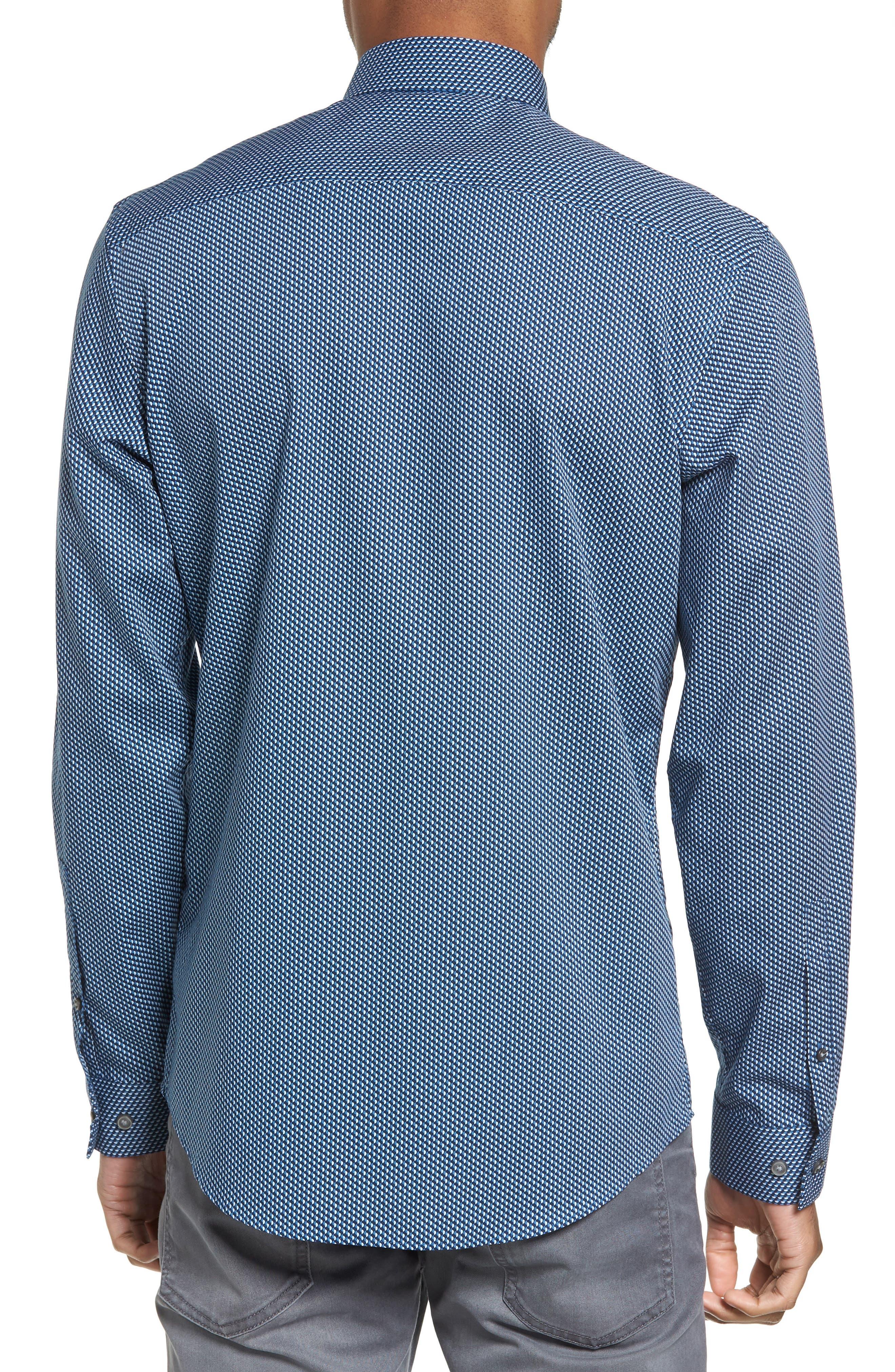 Print Sport Shirt,                             Alternate thumbnail 2, color,                             Blue Ice Navy Geo Print