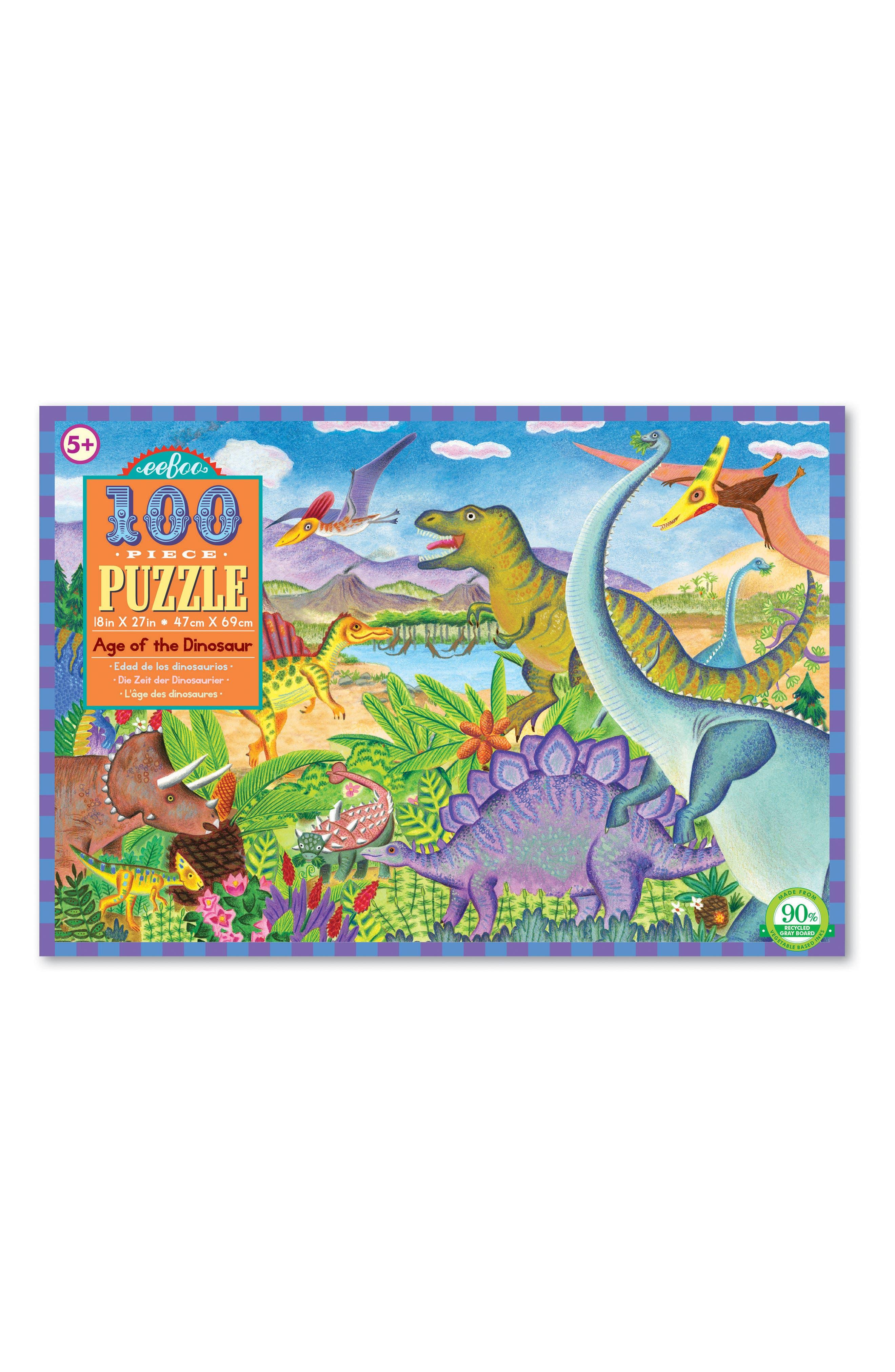 eeBoo Dinosaur Jigsaw Puzzle