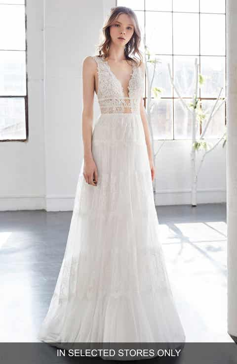 Inmaculada Garcia Olivinia Lace A Line Gown