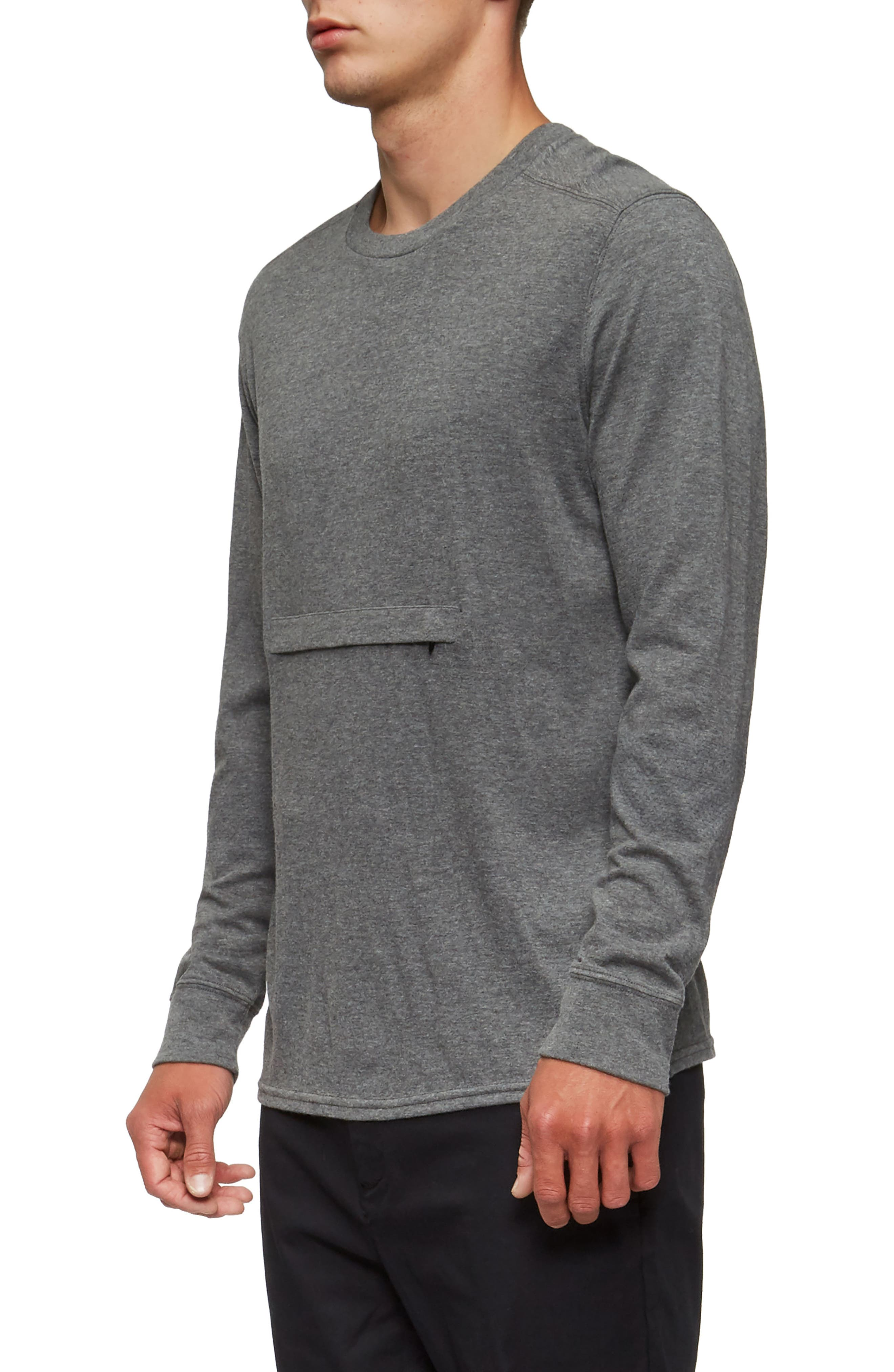Lowell Long Sleeve T-Shirt,                             Alternate thumbnail 3, color,                             Heather Grey