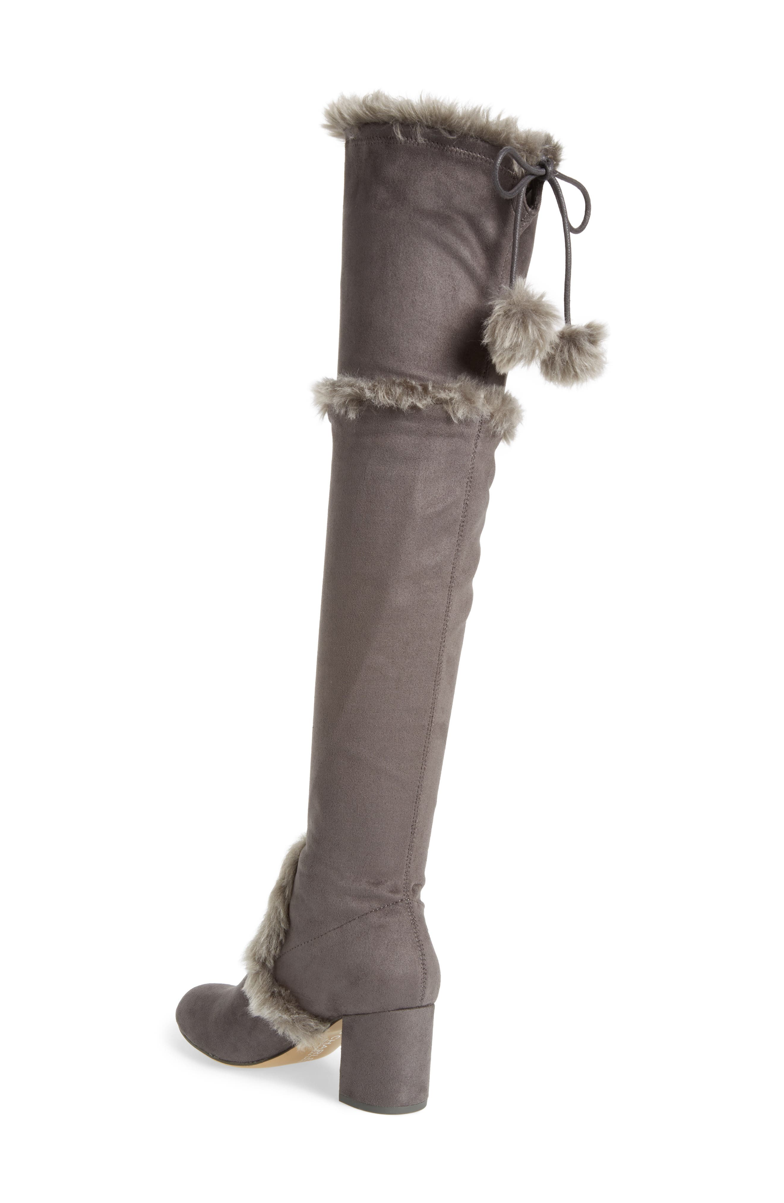 Odom Over the Knee Boot,                             Alternate thumbnail 2, color,                             Slate Faux Suede