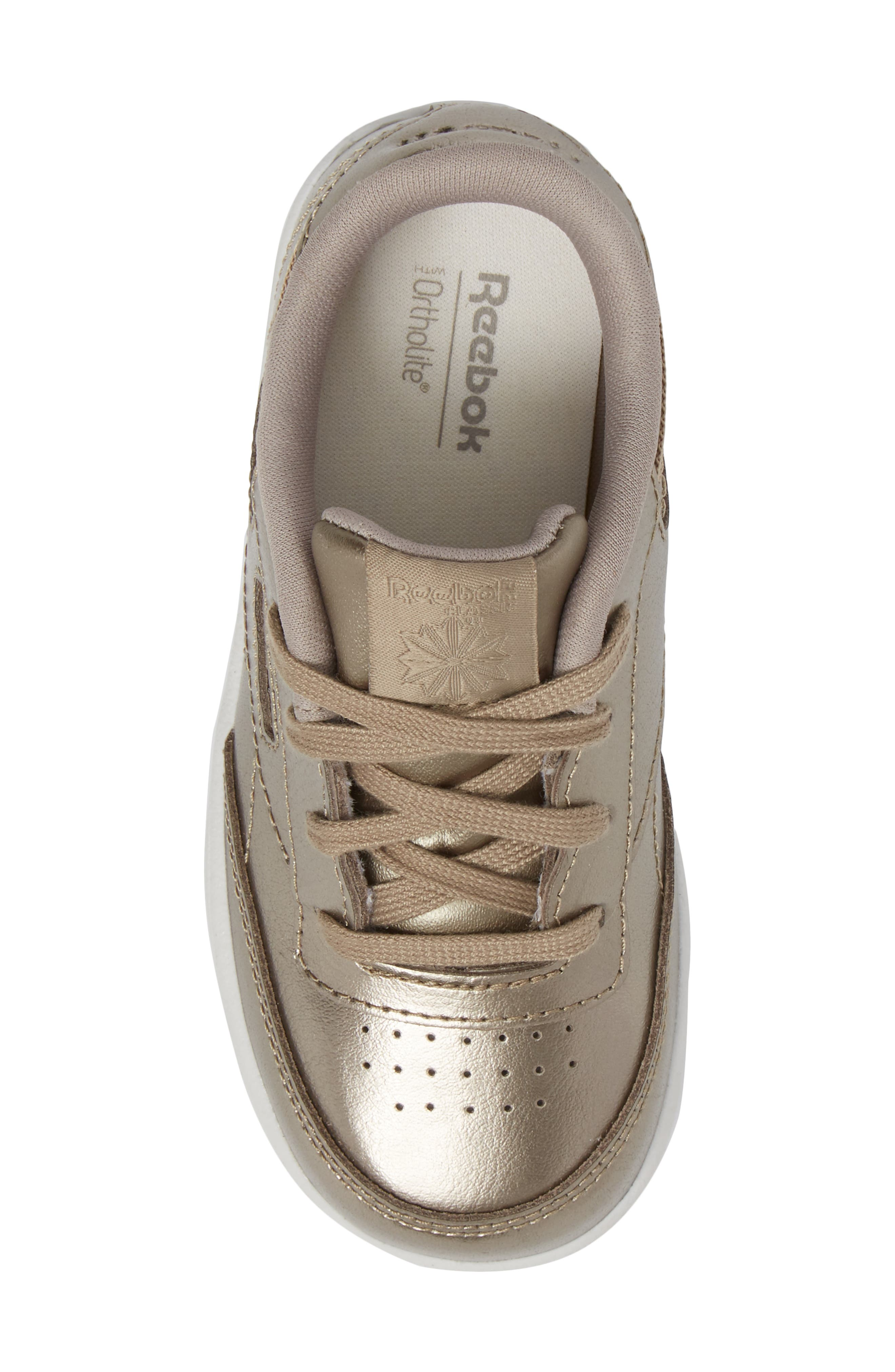 Alternate Image 5  - Reebok Club C Melted Metallic Sneaker (Baby, Walker & Toddler)