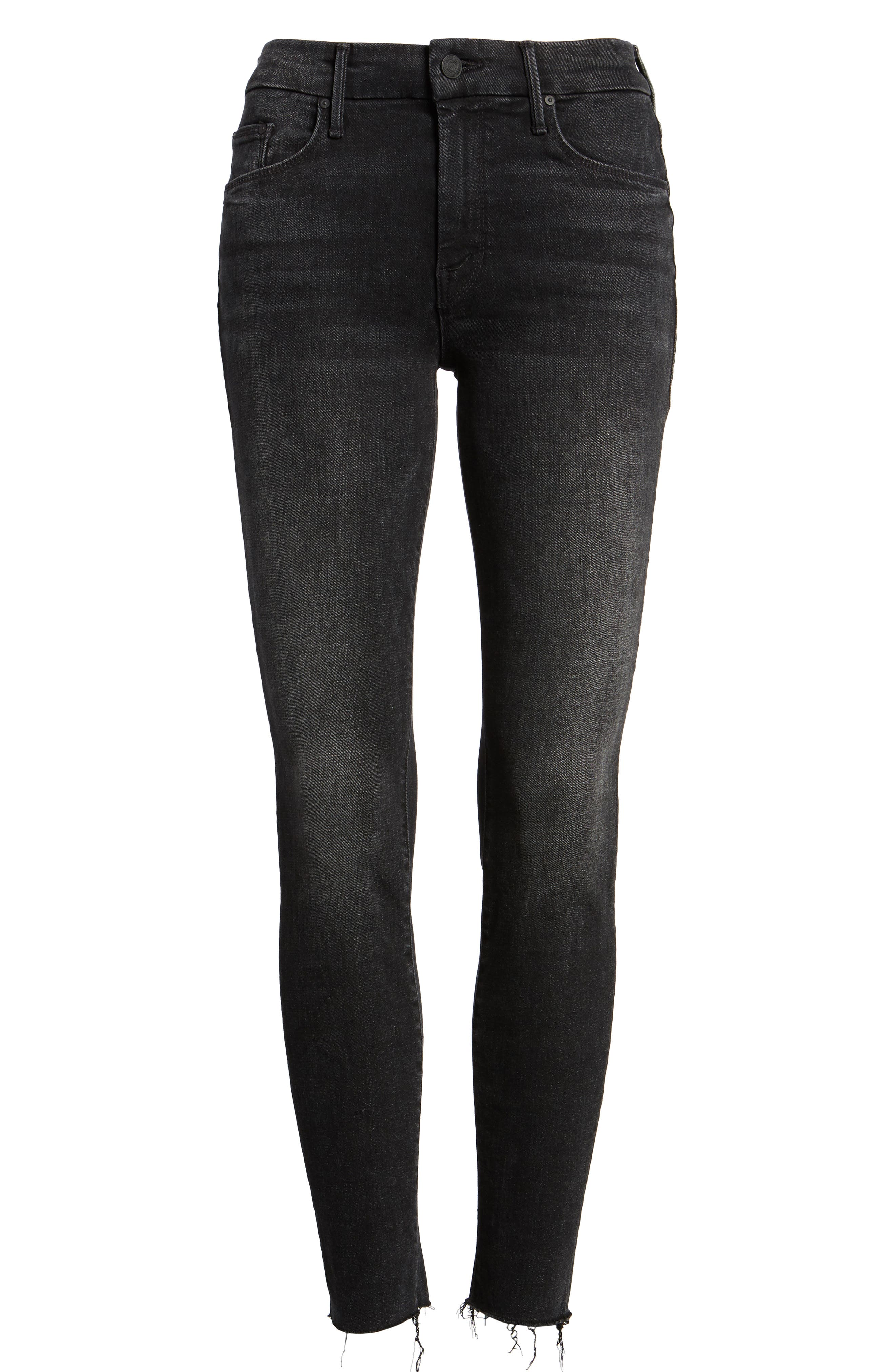 Alternate Image 6  - MOTHER The Looker Frayed Ankle Jeans (Night Hawk)