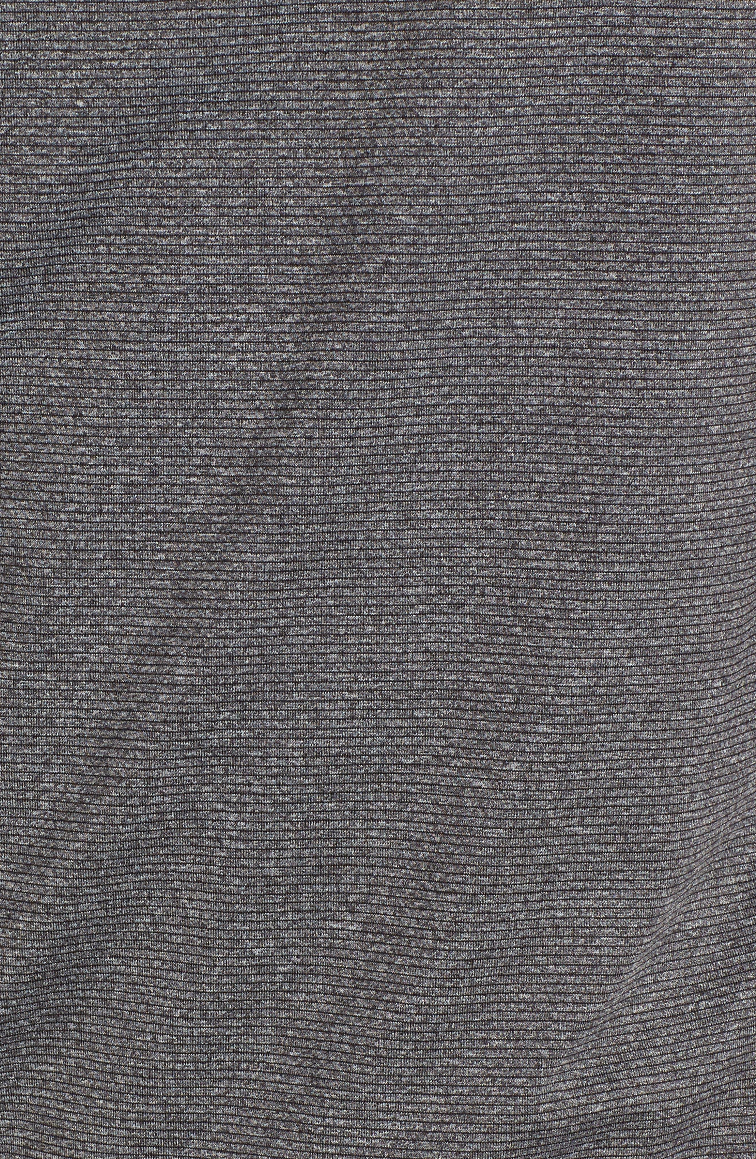 Shoreline - Oakland Raiders Half Zip Pullover,                             Alternate thumbnail 5, color,                             Charcoal Heather