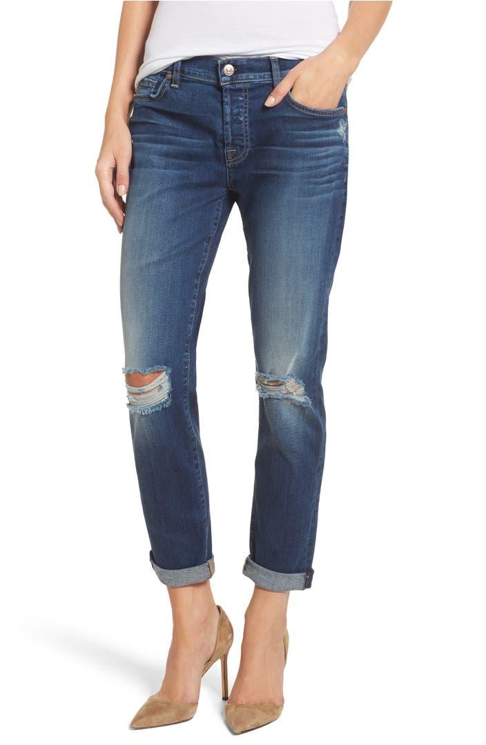 7 For All Mankindu00ae Josefina Destroyed Boyfriend Jeans (Liberty) | Nordstrom