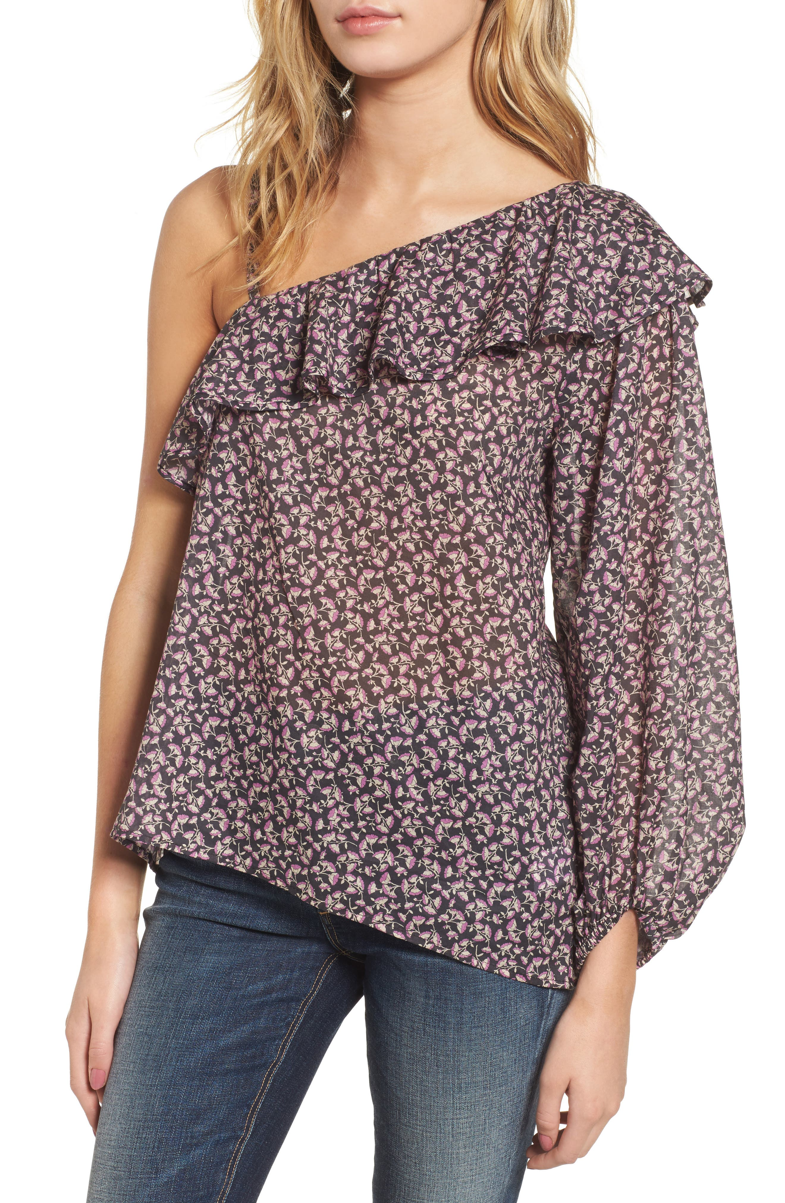 The Brightside One-Shoulder Top,                             Main thumbnail 1, color,                             Dream A Little Dream