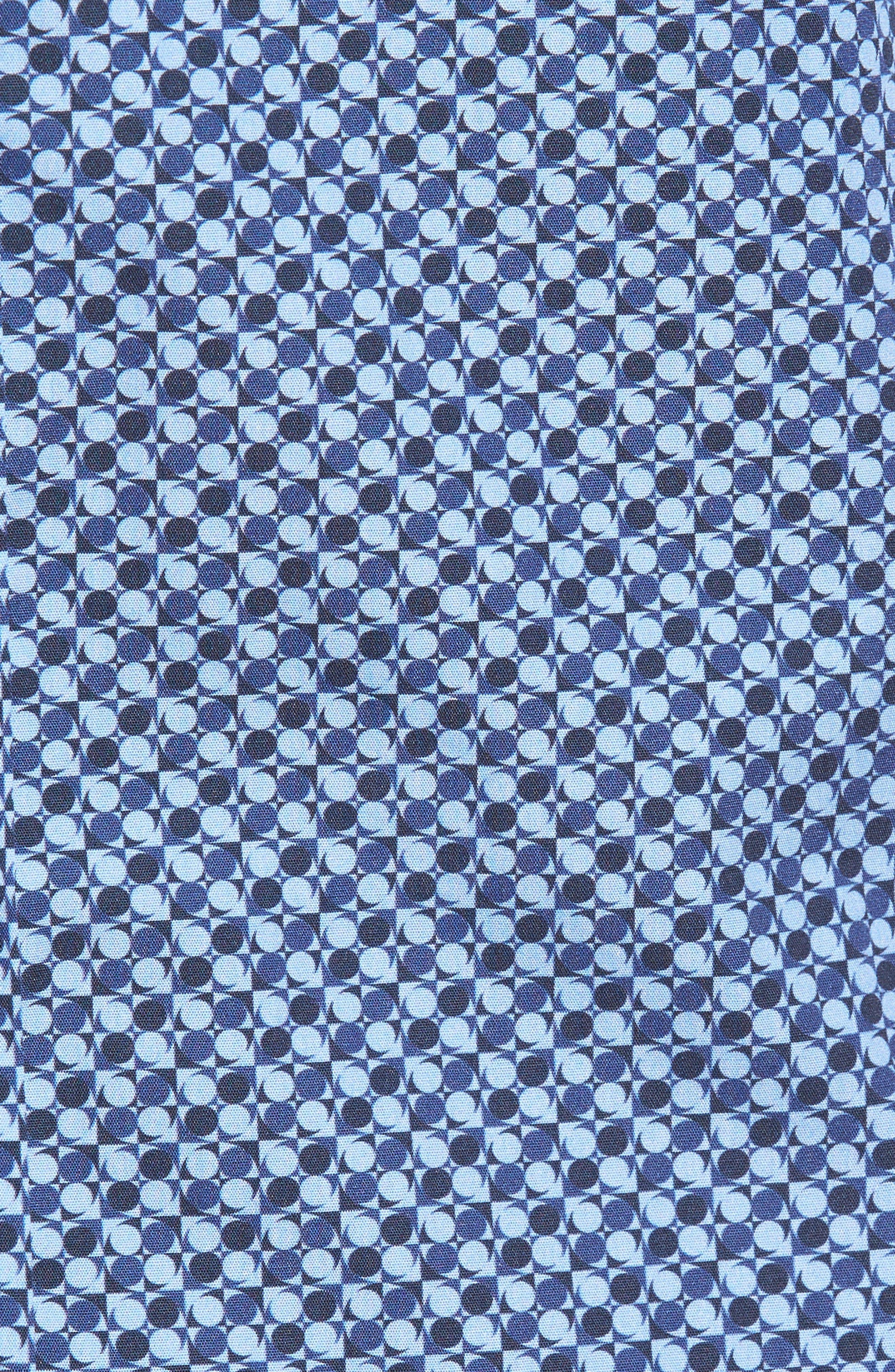 Trim Fit Dot Print Sport Shirt,                             Alternate thumbnail 5, color,                             Classic Blue