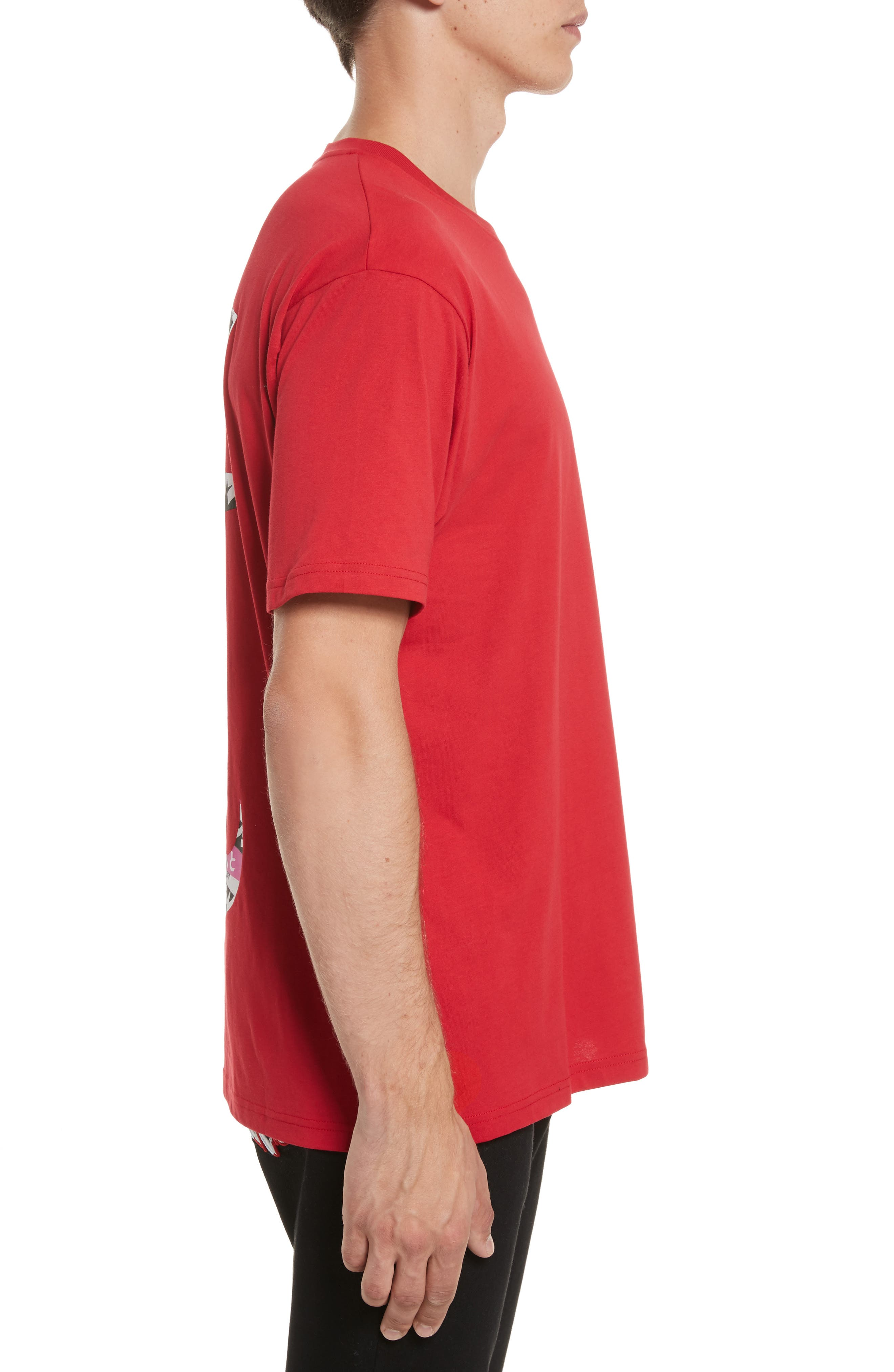 VERSUS by Versace Logo Graphic T-Shirt,                             Alternate thumbnail 3, color,                             Red