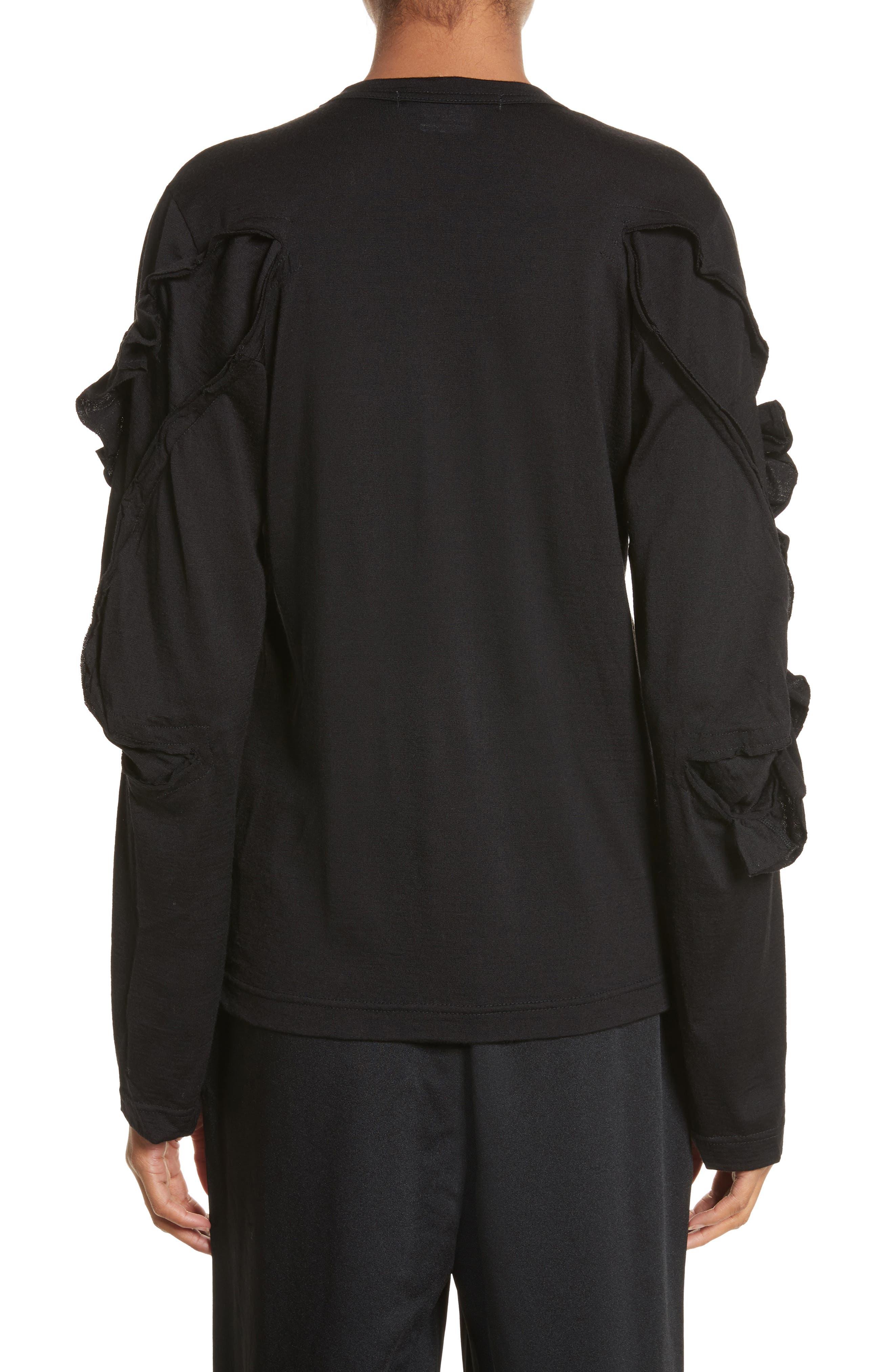 Alternate Image 2  - Comme des Garçons Ruffle Sleeve Wool Top
