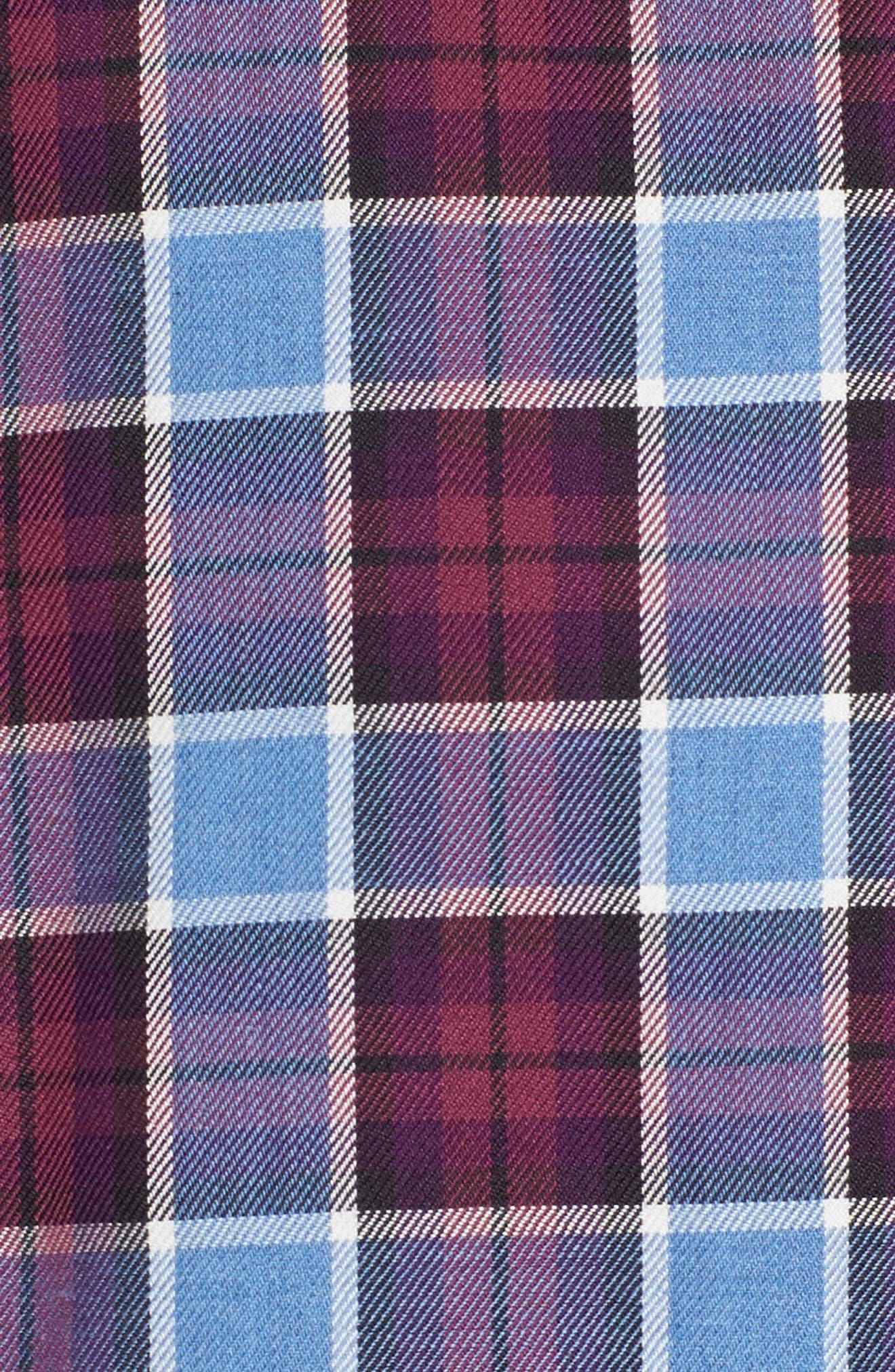 Campti Regular Fit Plaid Sport Shirt,                             Alternate thumbnail 5, color,                             Purple