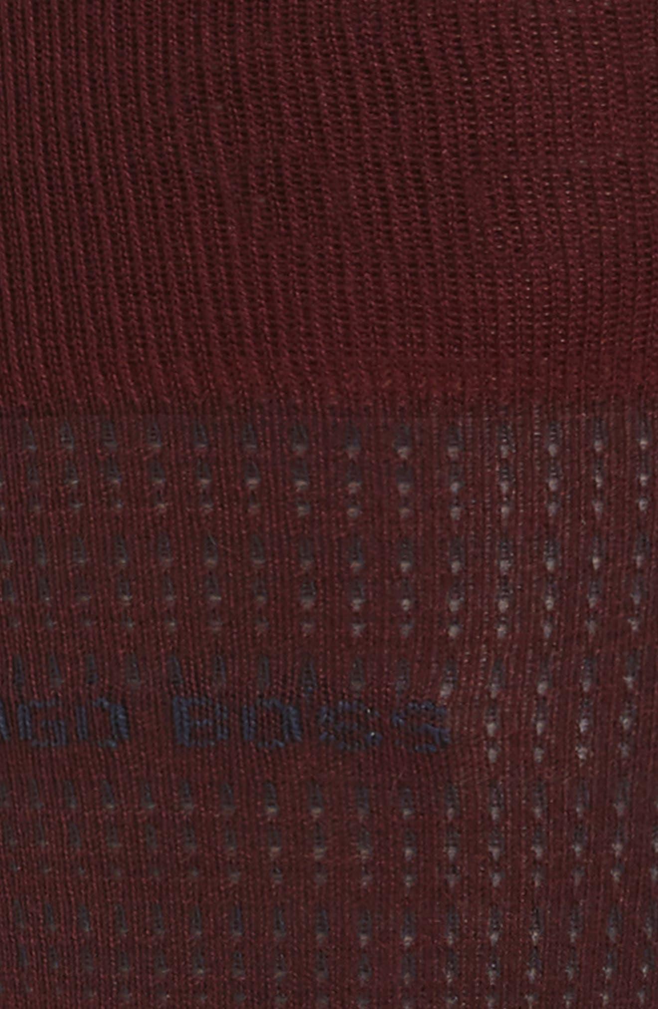 Micro Jacquard Socks,                             Alternate thumbnail 2, color,                             Dark Red