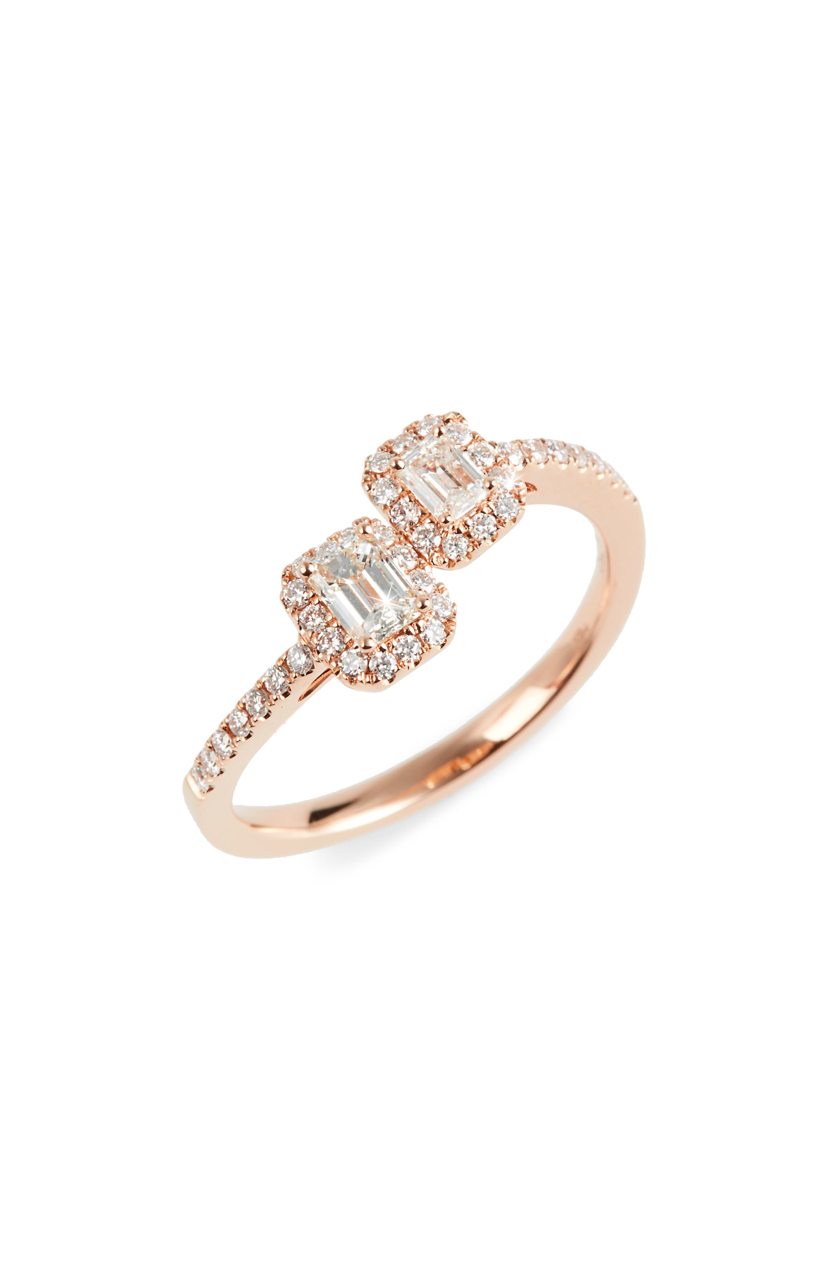 Stackable Diamond Ring,                         Main,                         color, Rose Gold