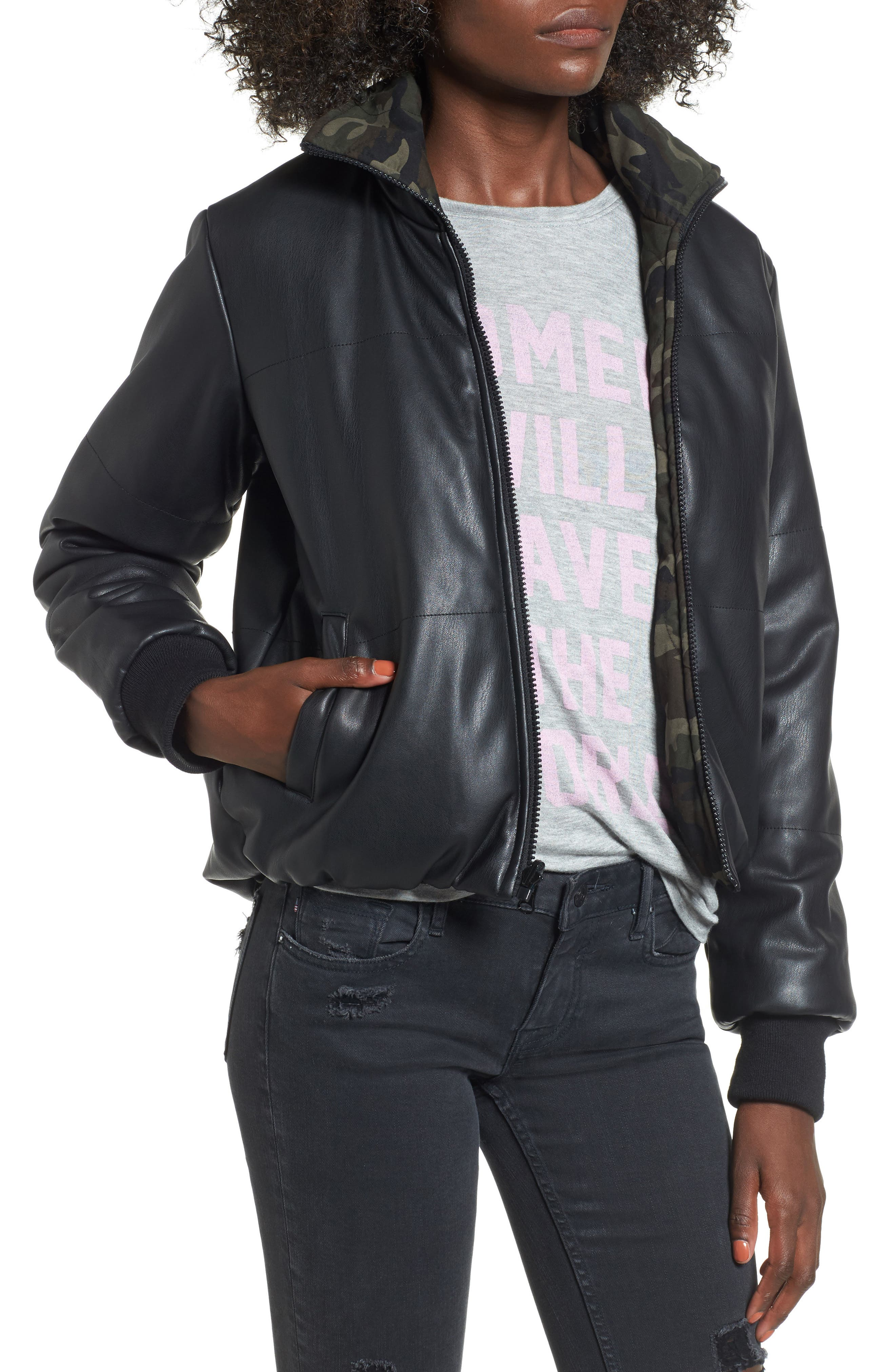 Reversible Camo Jacket,                             Alternate thumbnail 4, color,                             Camo