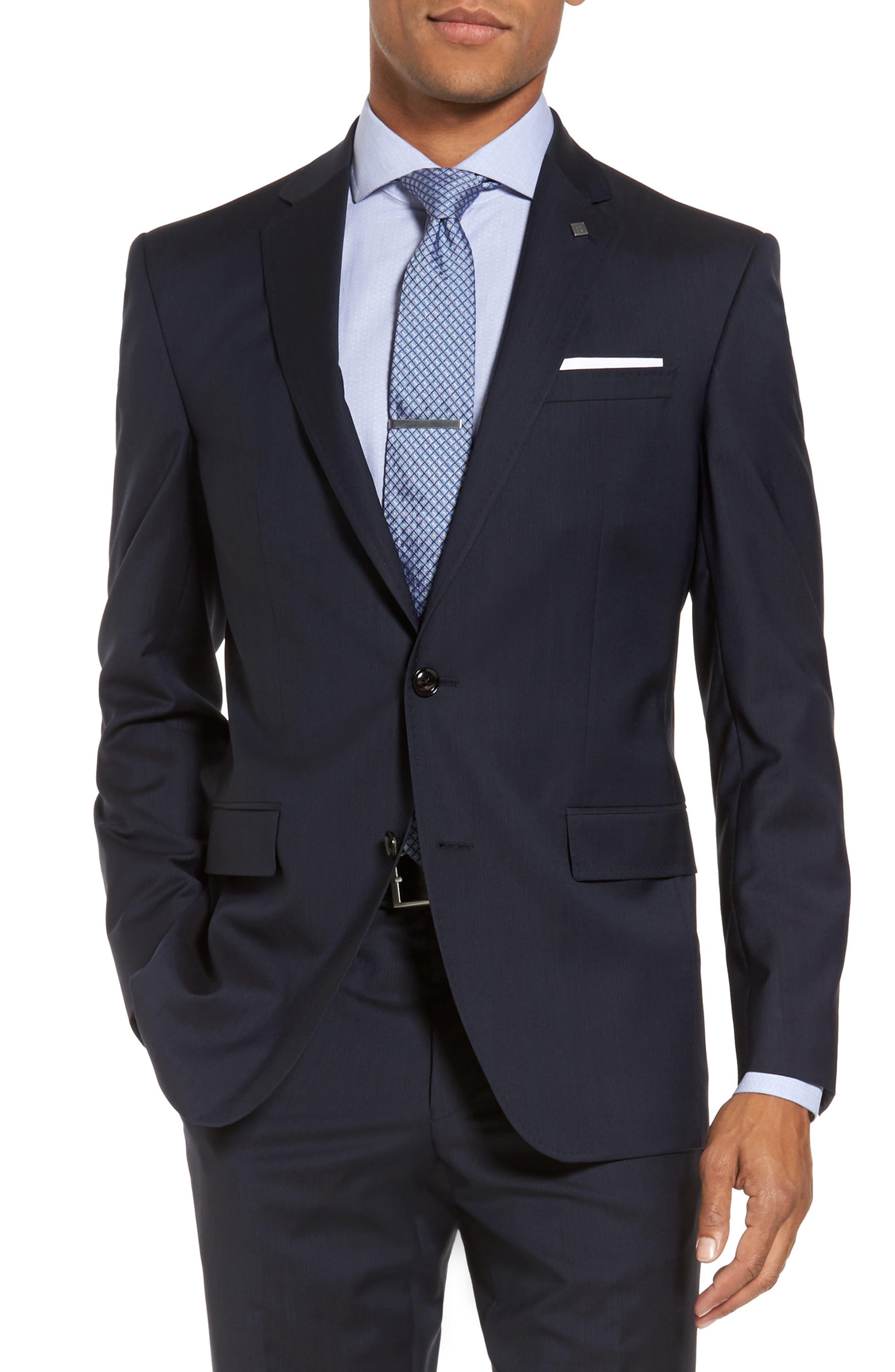 Alternate Image 5  - Ted Baker London Trim Fit Solid Wool Suit