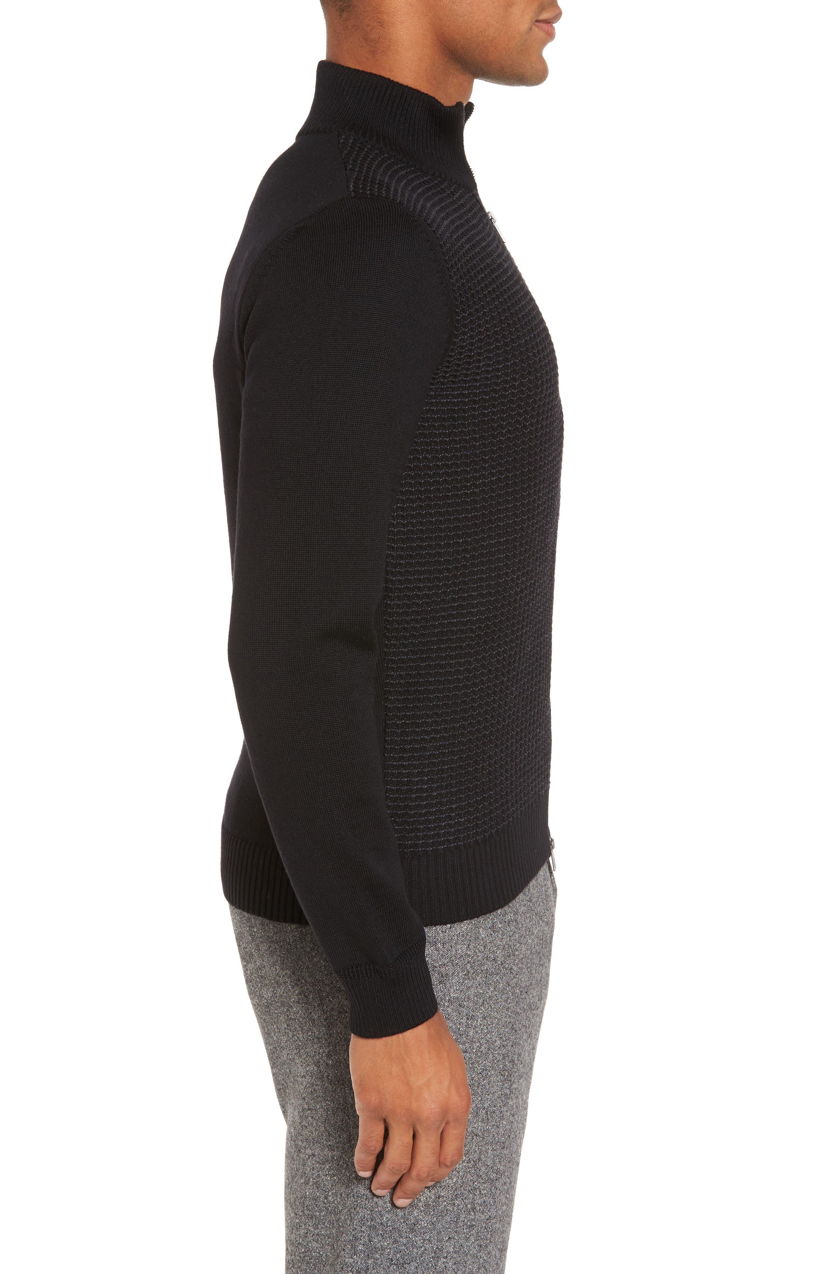 Alternate Image 3  - BOSS Bacco Full Zip Wool Sweater Jacket