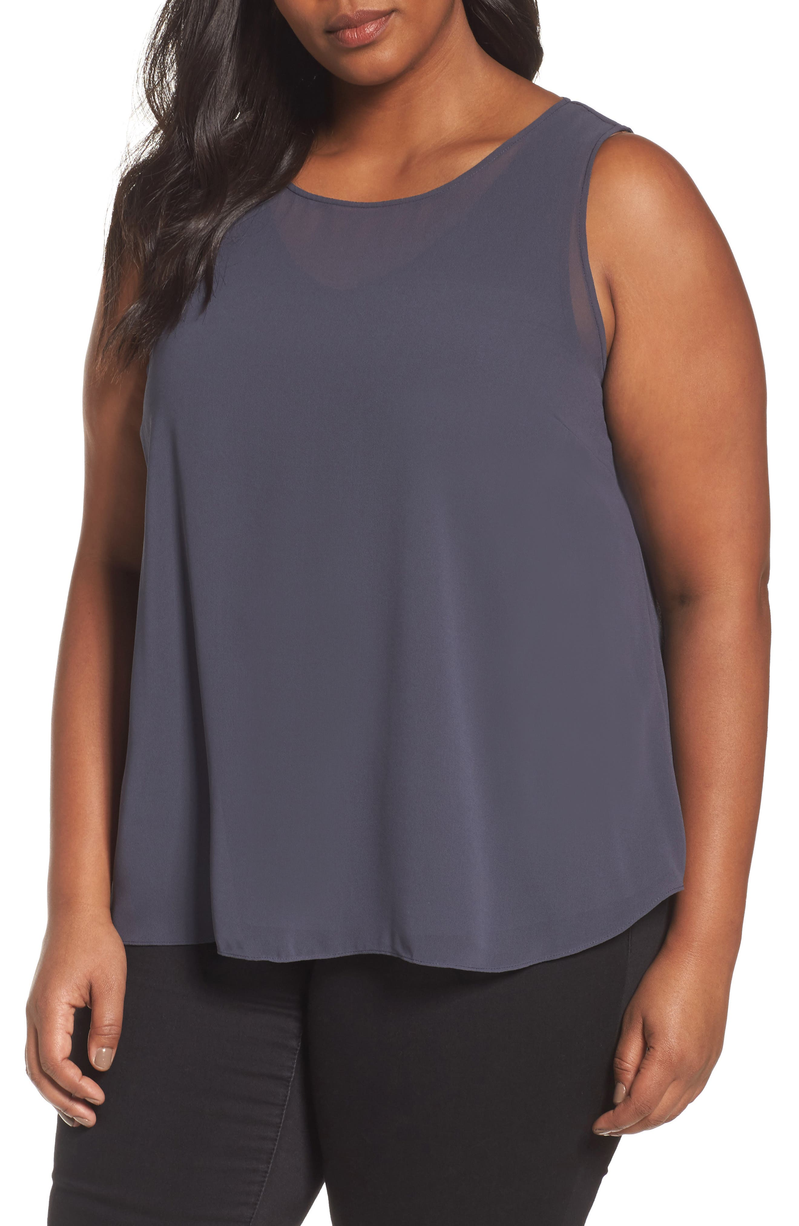Alternate Image 1 Selected - NIC+ZOE Sheer Collection Top (Plus Size)