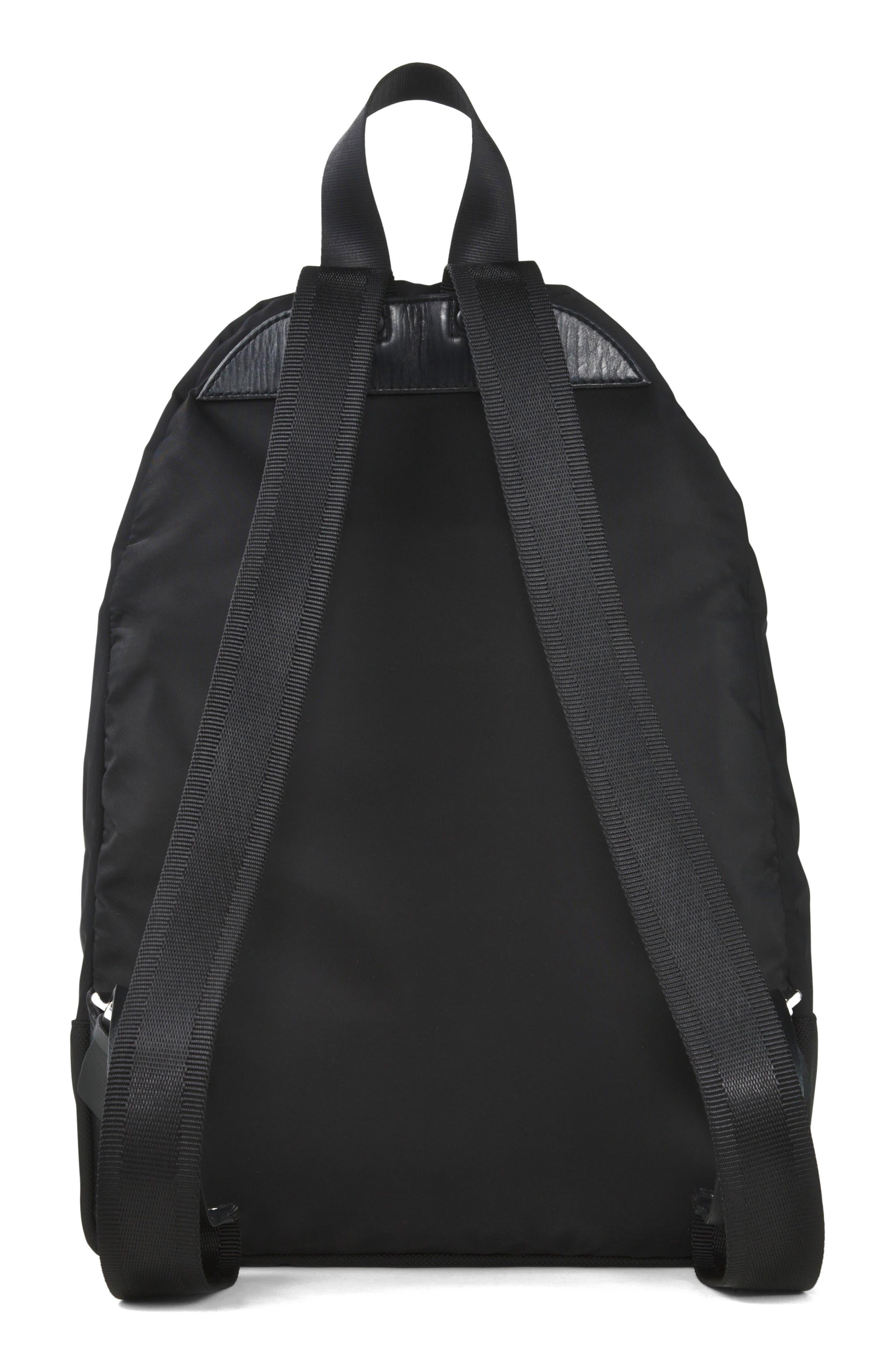 Tiger Print Backpack,                             Alternate thumbnail 4, color,                             Black