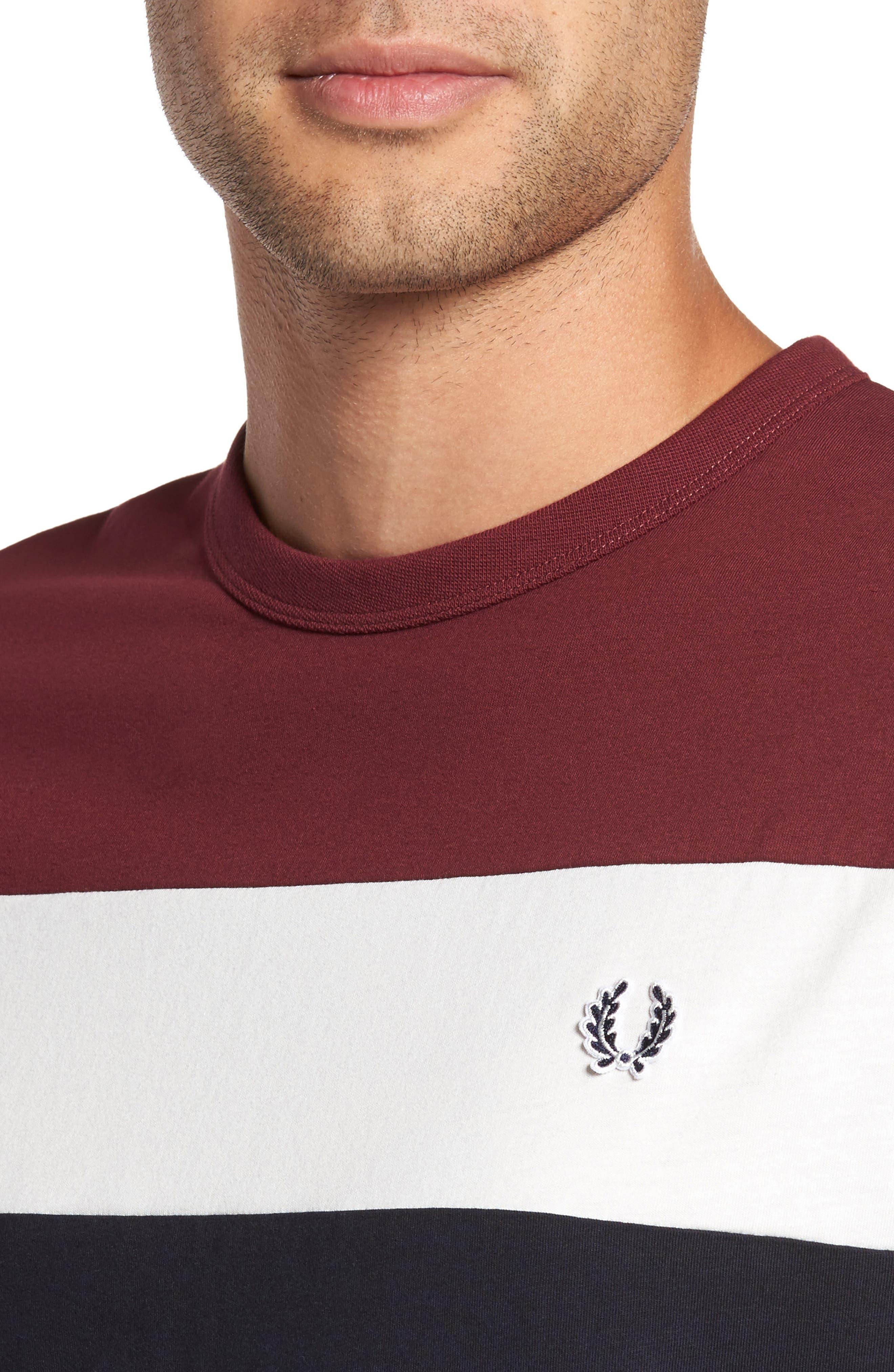 Colorblock T-Shirt,                             Alternate thumbnail 4, color,                             Navy