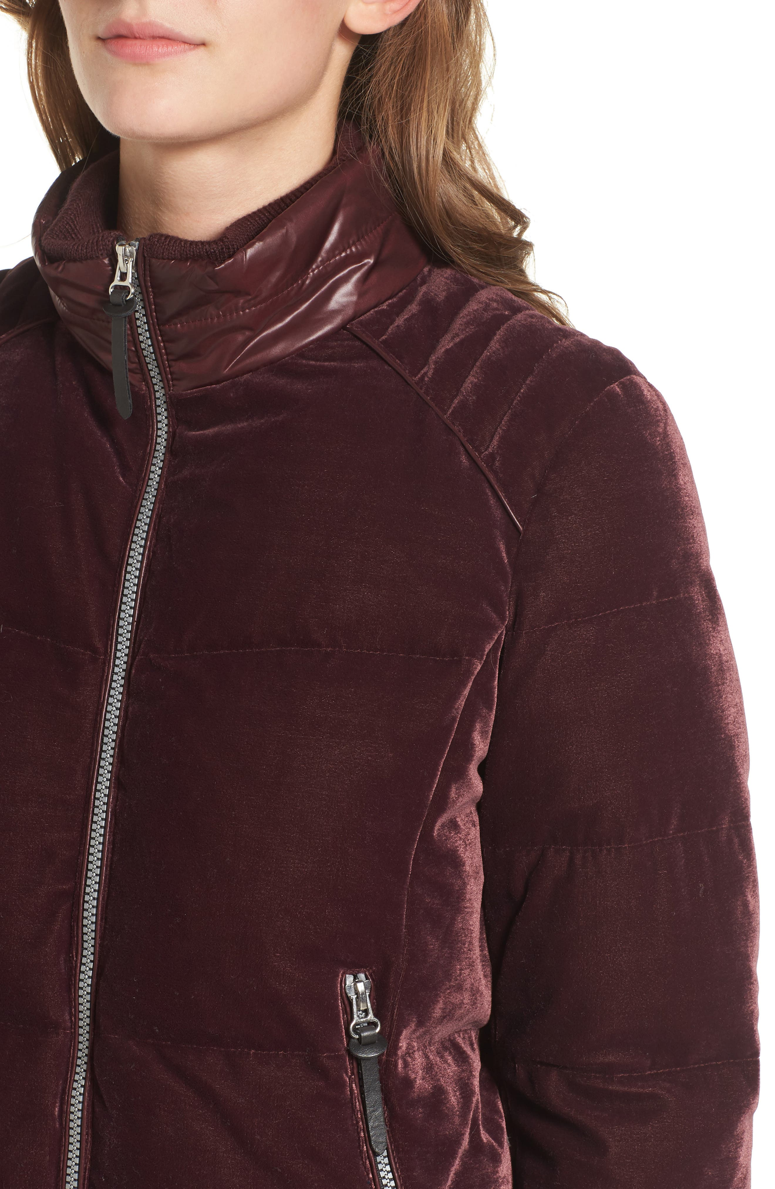 Alternate Image 4  - Andrew Marc Vita Down & Feather Fill Quilted Velvet Jacket