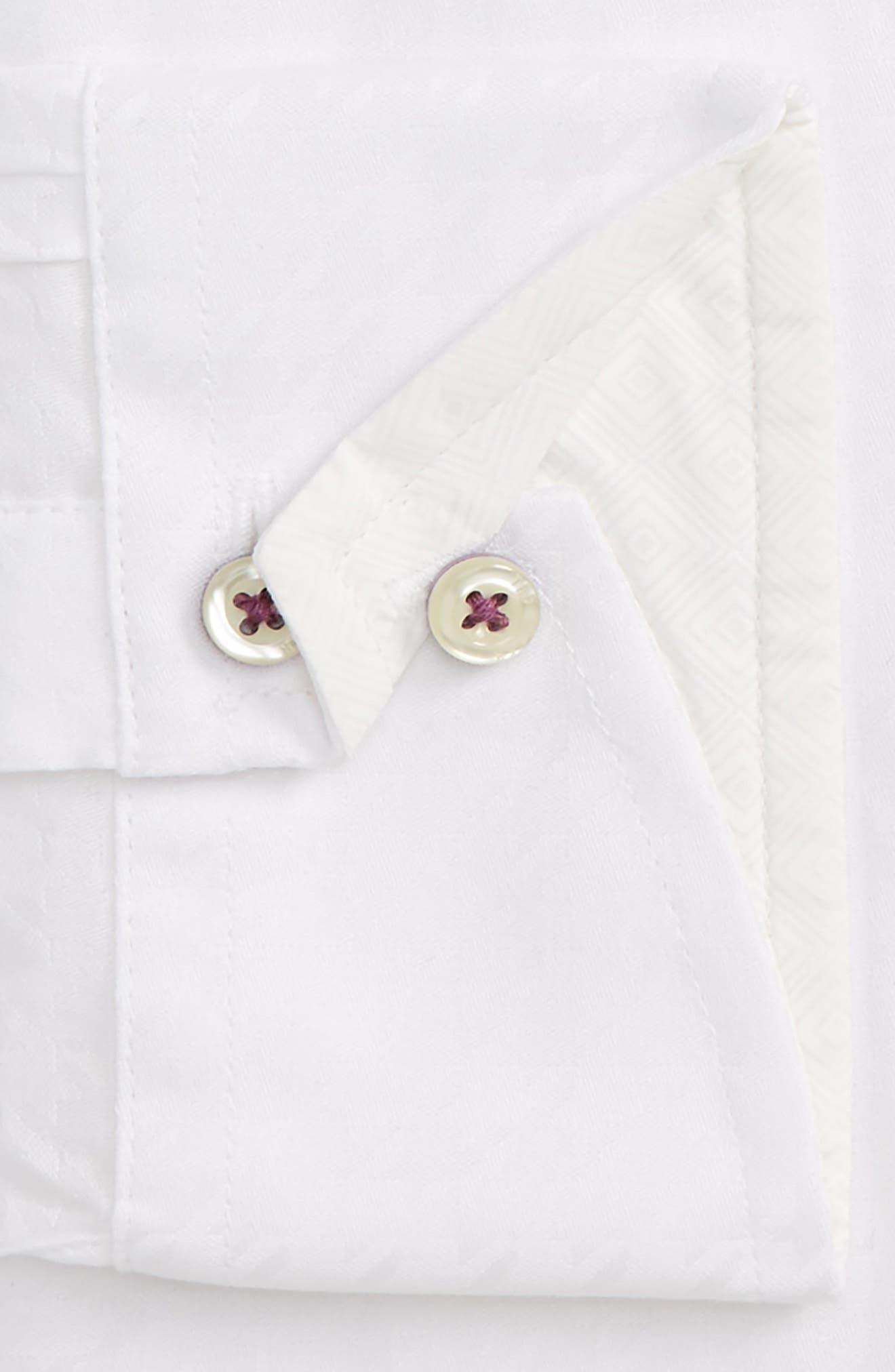 Alternate Image 2  - Ted Baker London Trim Fit Houndstooth Dress Shirt