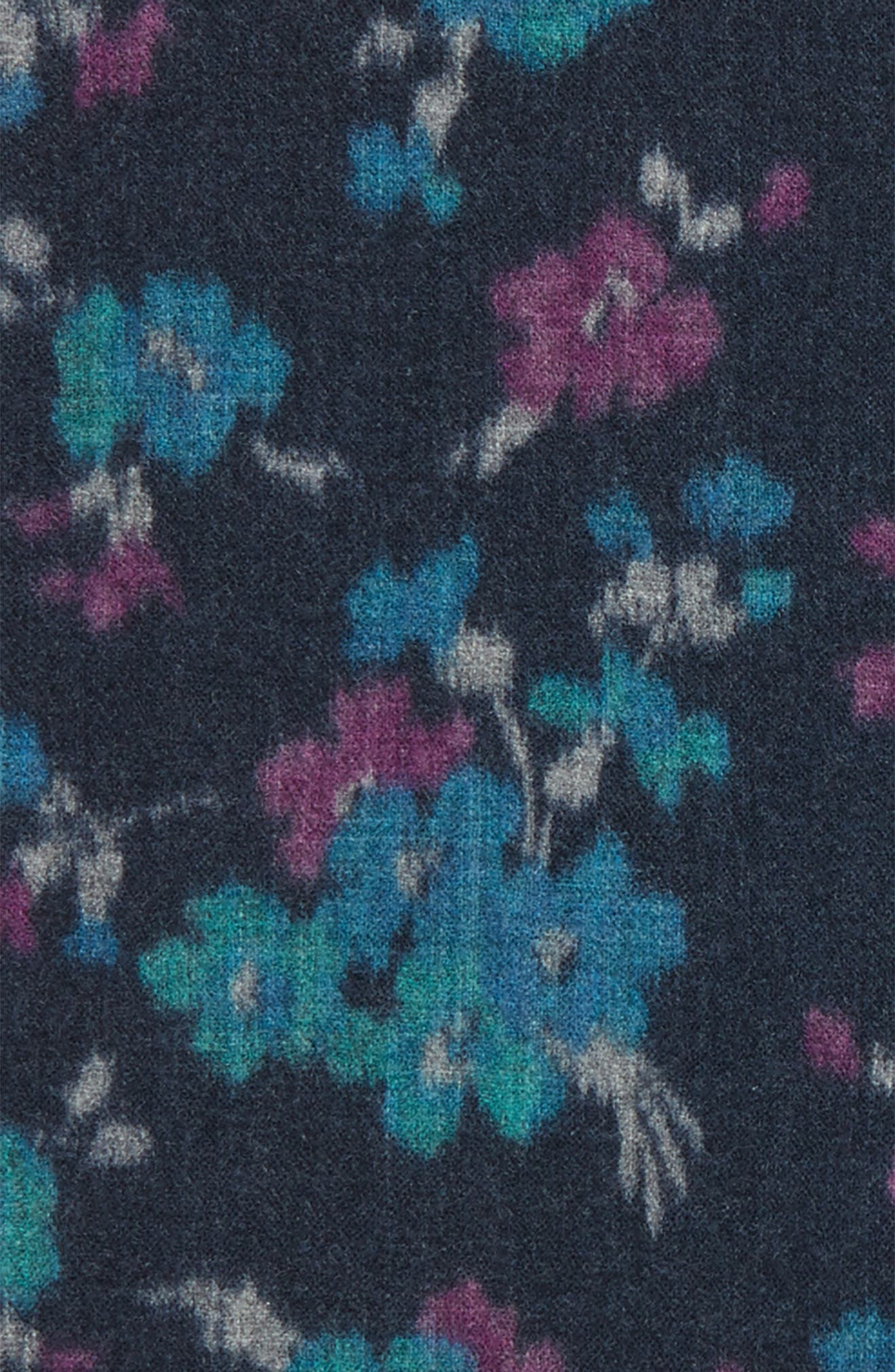 Alternate Image 3  - Ted Baker London Floral Wool Pocket Square