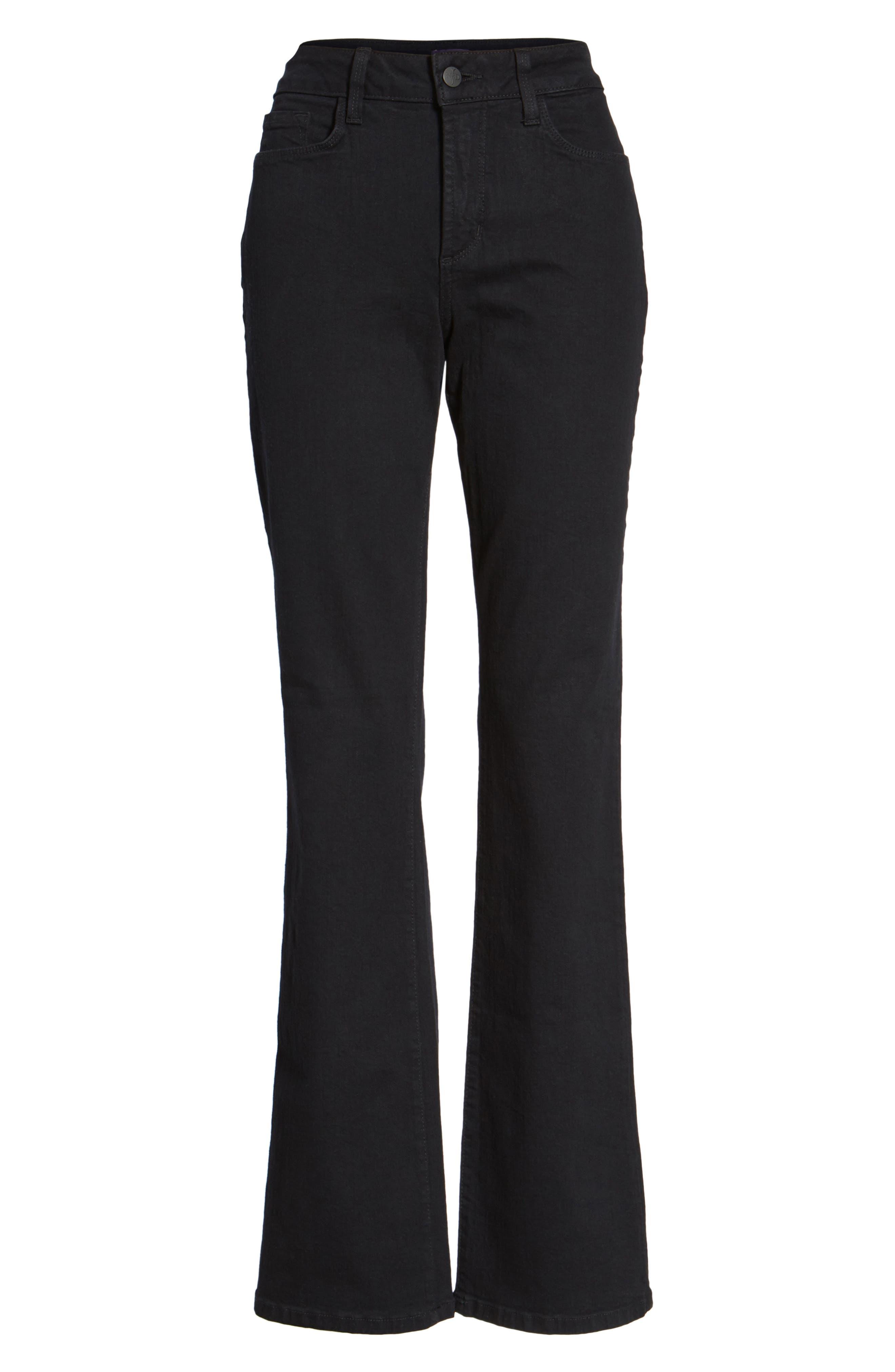 Barbara Stretch Bootcut Jeans,                             Alternate thumbnail 7, color,                             Black