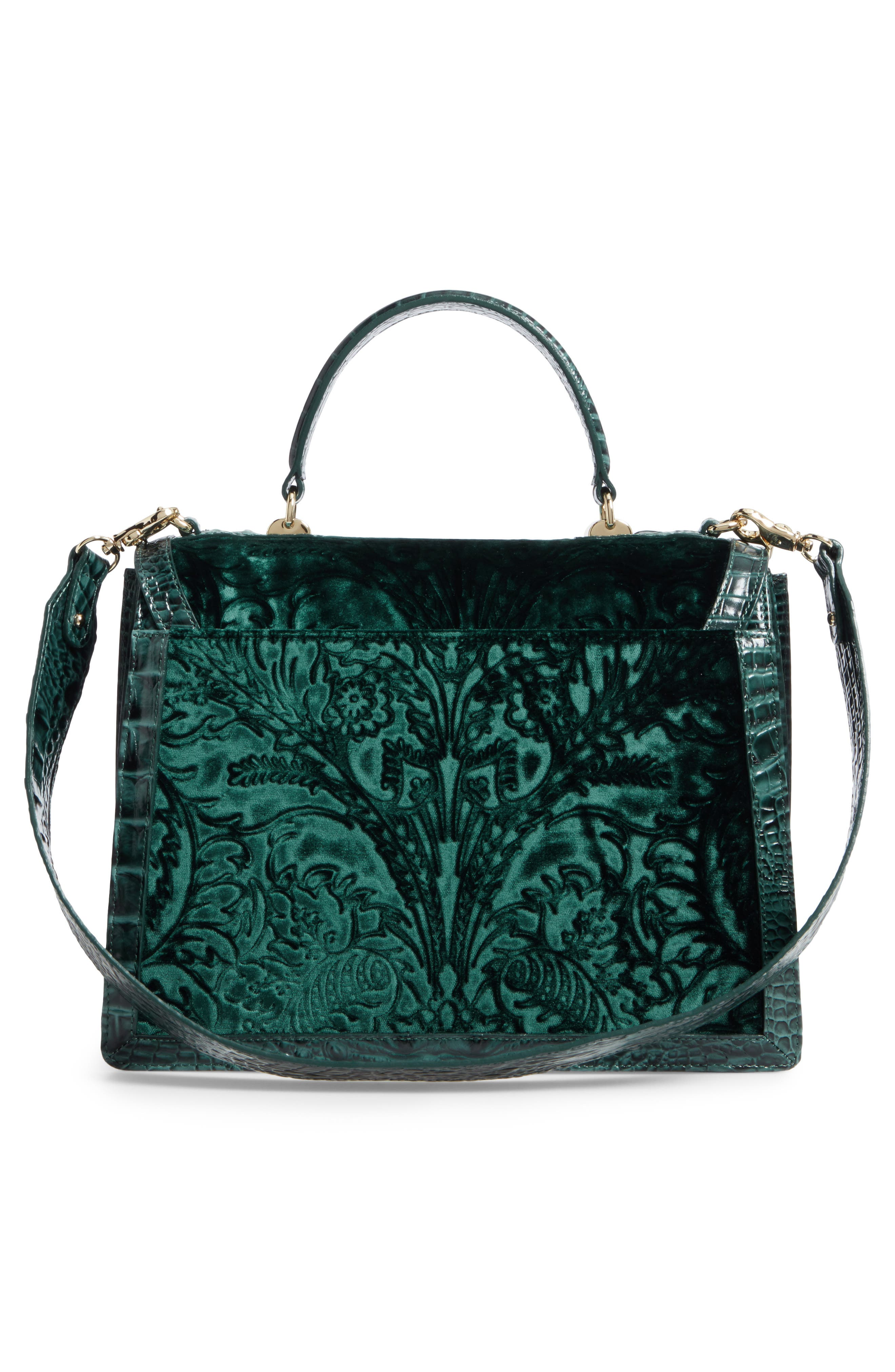 Main Image - Brahmin Ivy Cellini Gabriella Embossed Velvet Top Handle Satchel