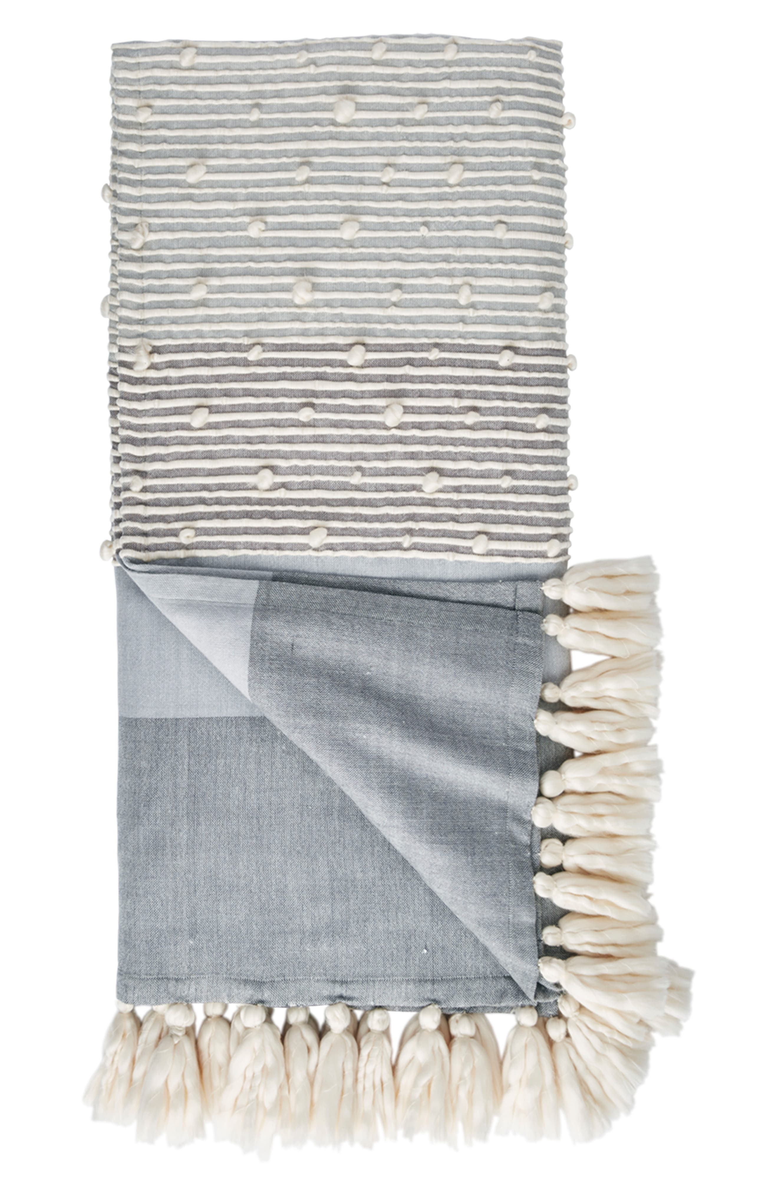 Tallulah Throw Blanket,                             Main thumbnail 1, color,                             Dark Blue