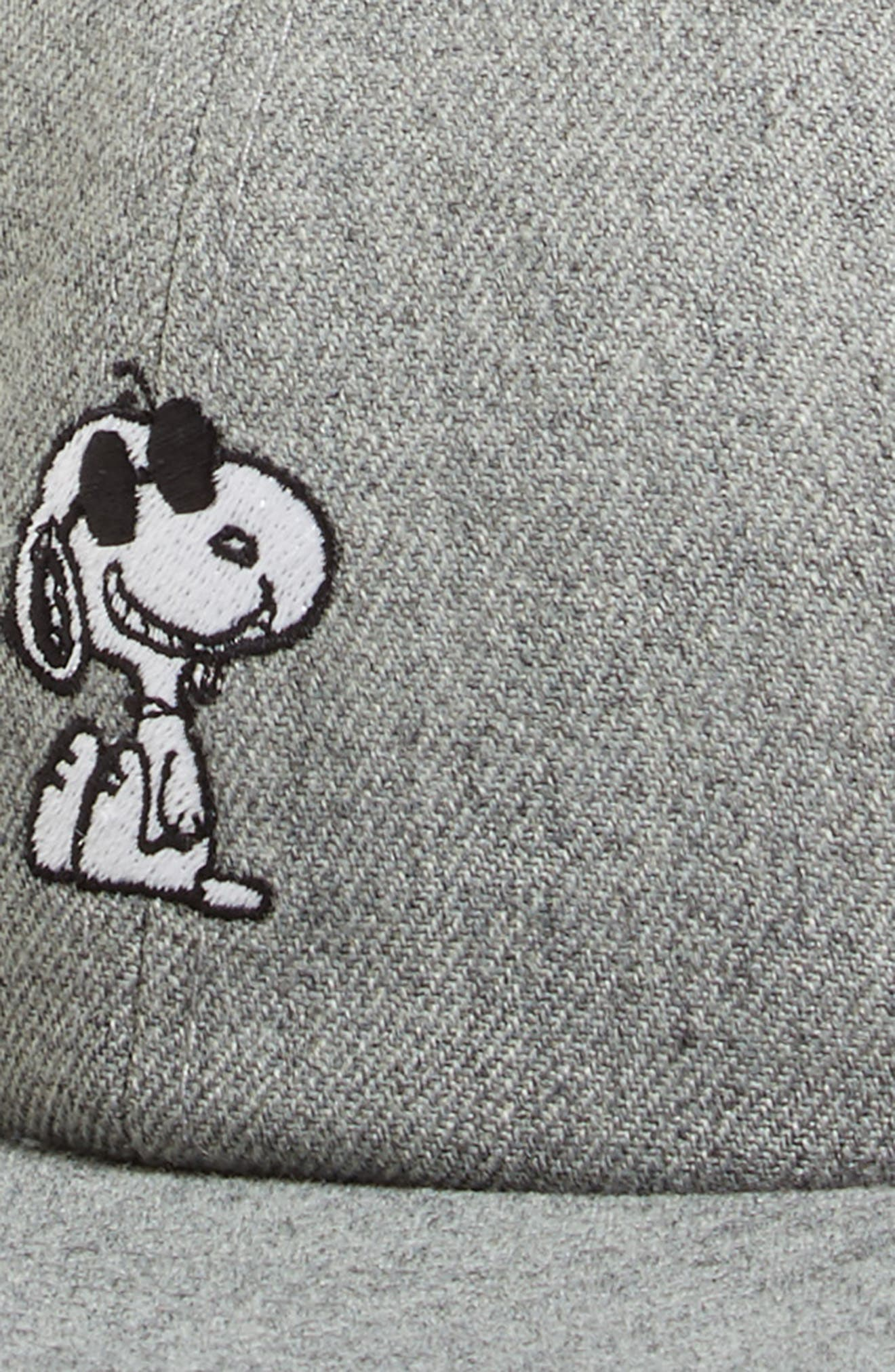 x Peanuts<sup>®</sup> Ball Cap,                             Alternate thumbnail 3, color,                             Heather Grey