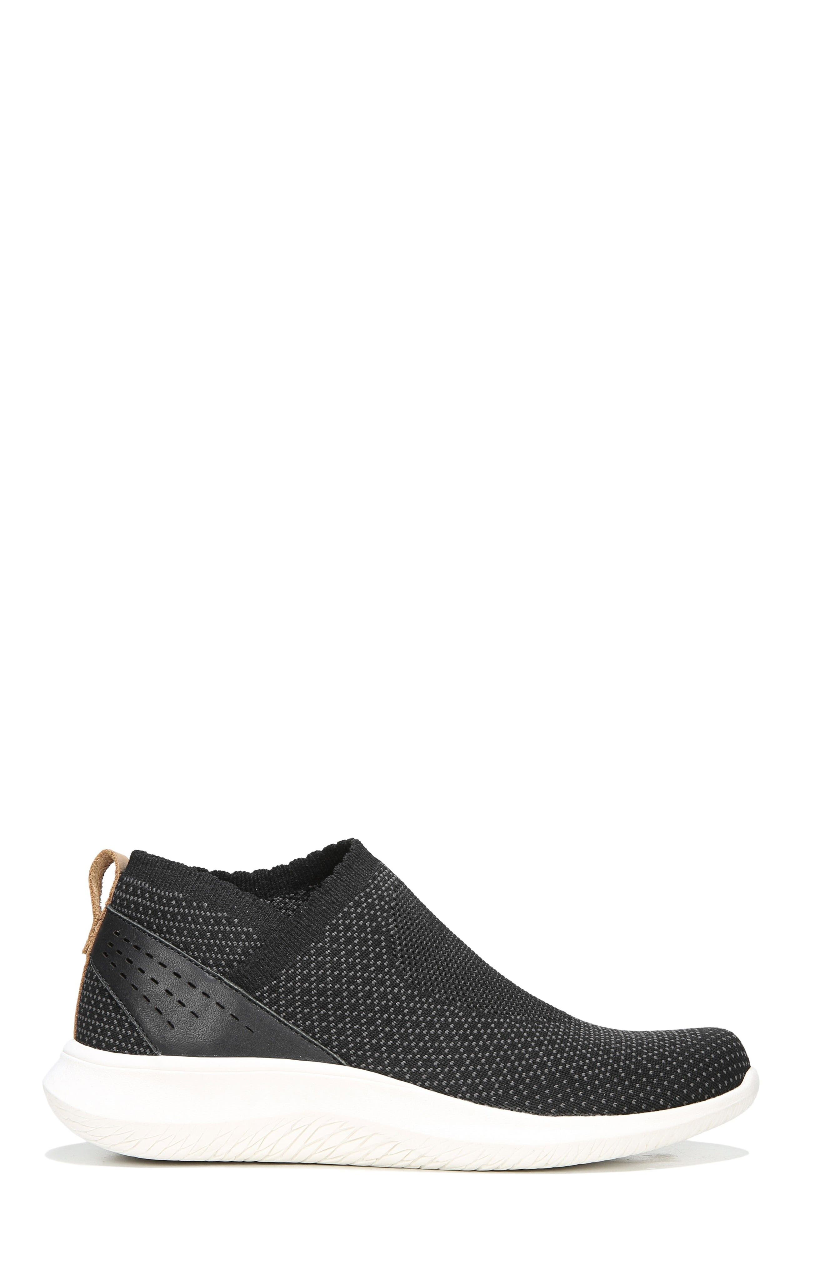 Fierce Knit Slip-On Sneaker,                             Alternate thumbnail 3, color,                             Black Knit Fabric