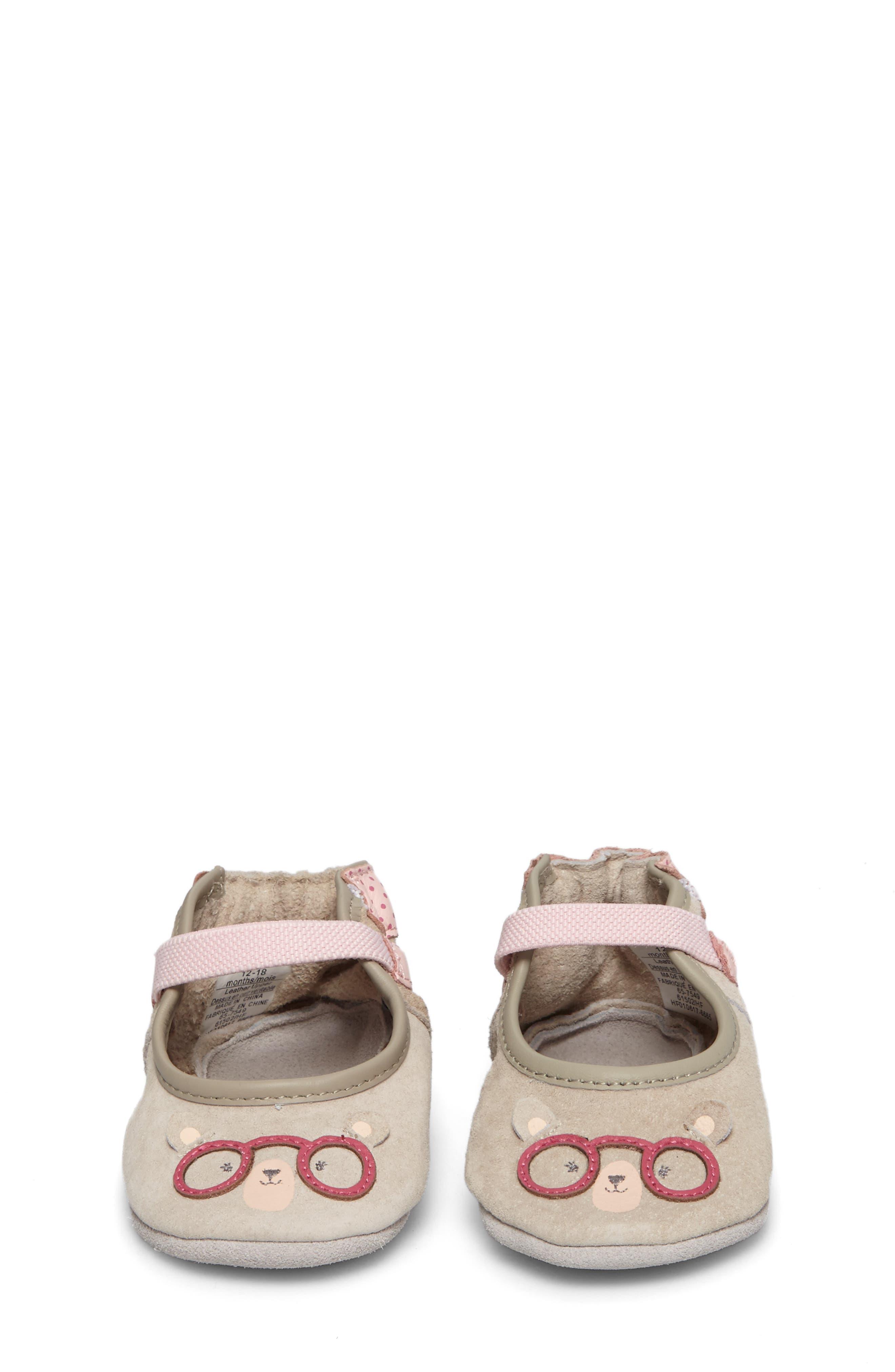 Alternate Image 4  - Robeez® Miss Bear Mary Jane Crib Shoe (Baby & Walker)