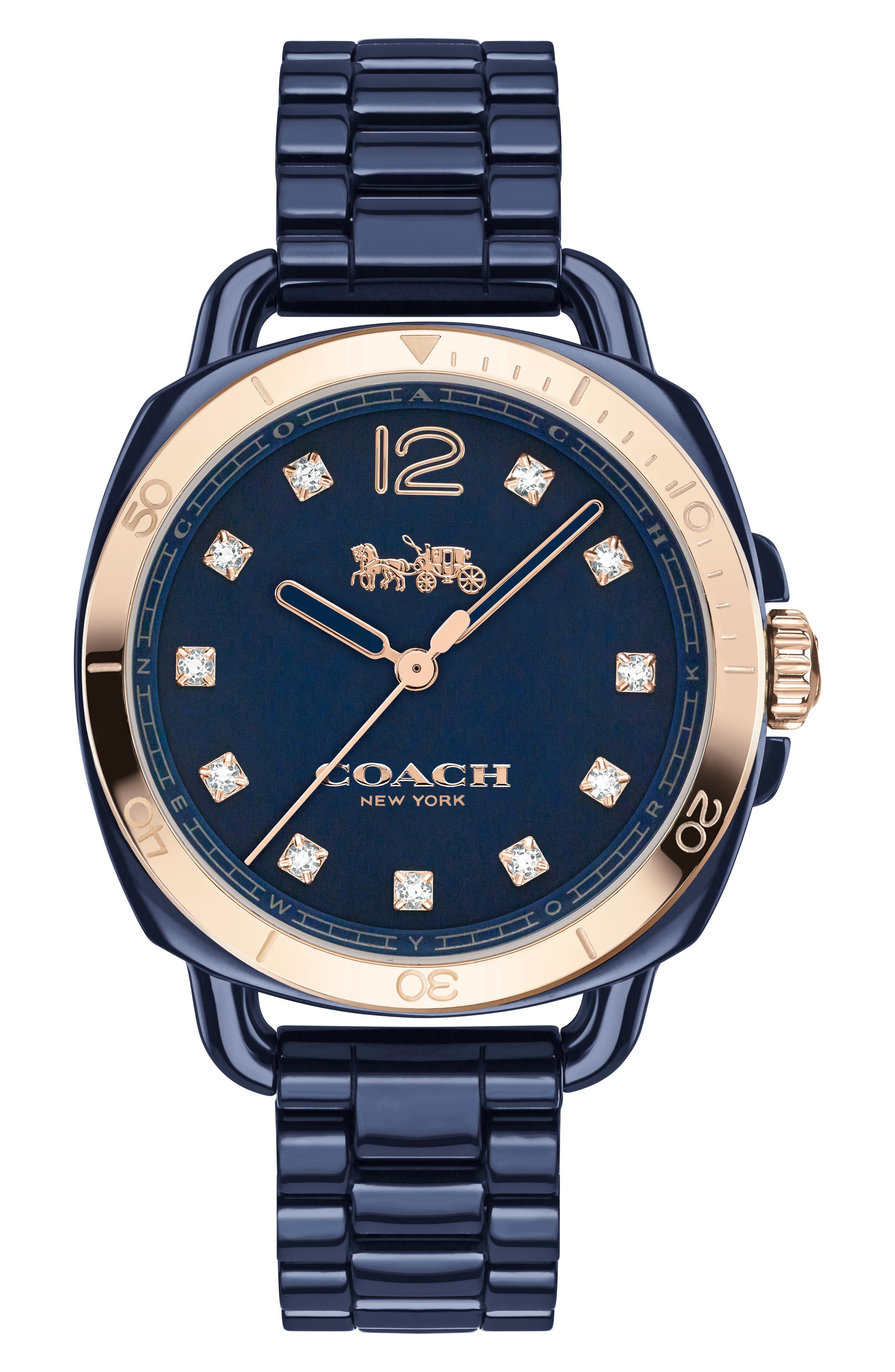 COACH Tatum Ceramic Bracelet Watch, 34mm