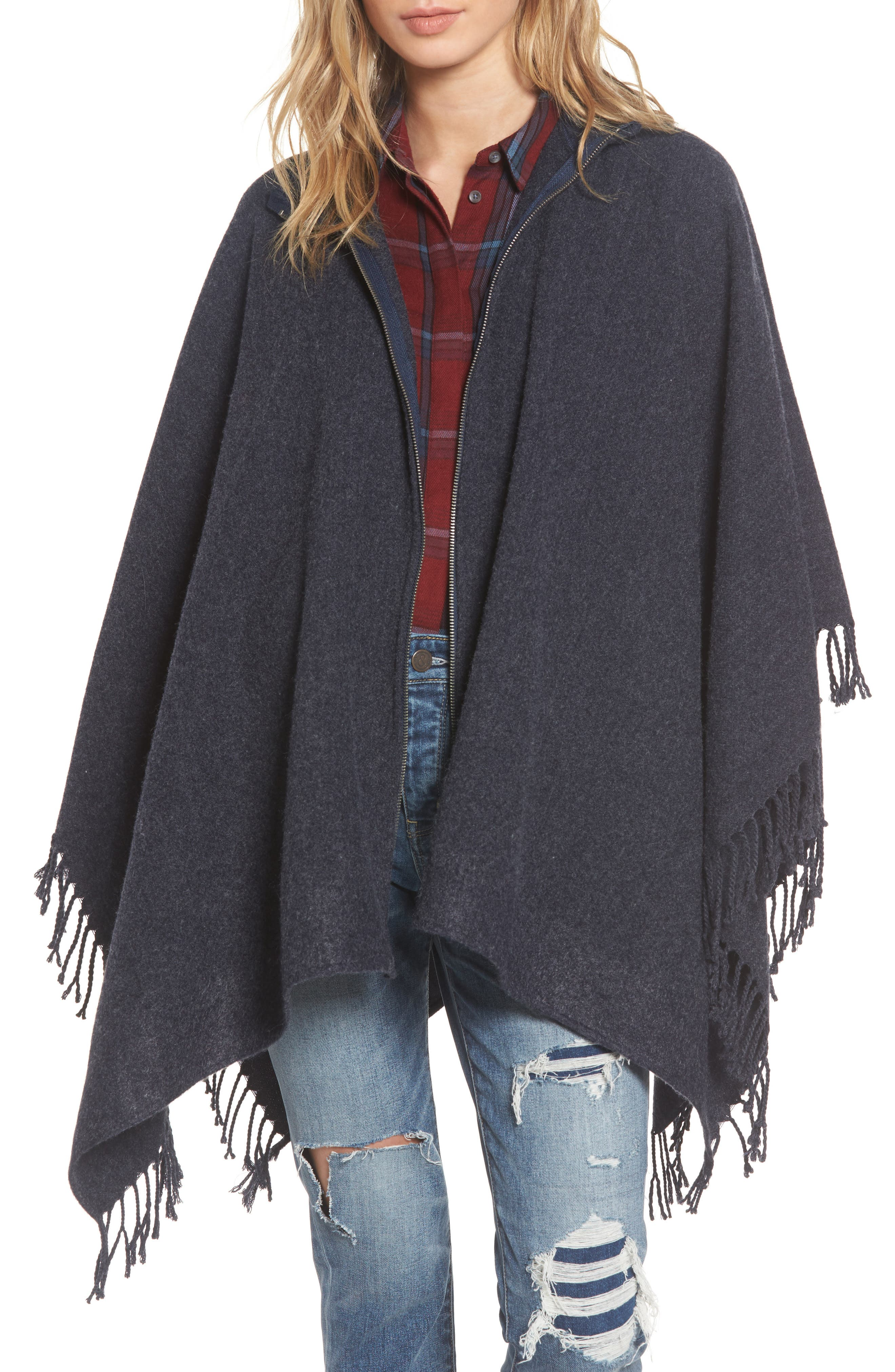 Alternate Image 1 Selected - Treasure & Bond Zip Poncho