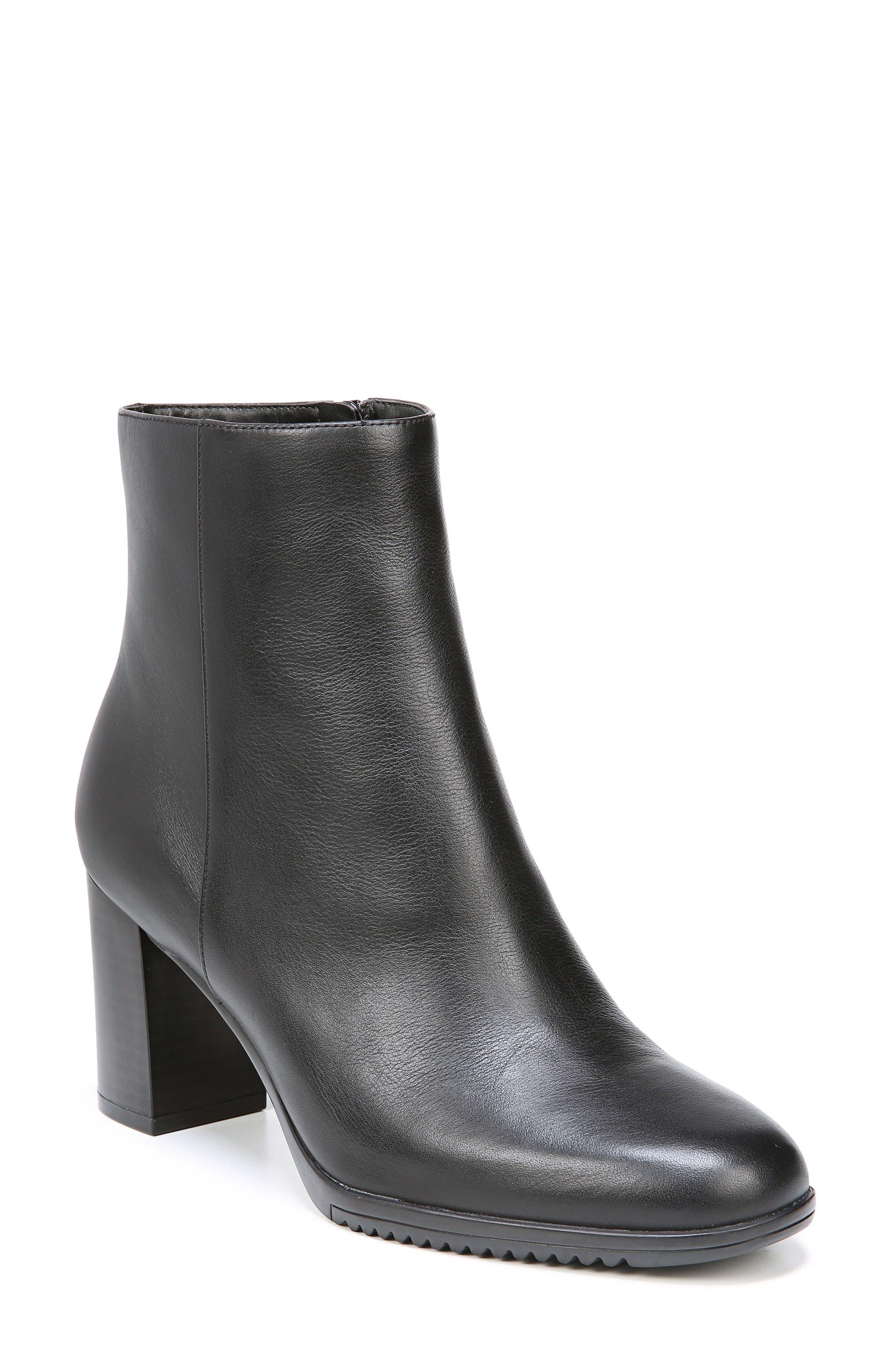 Sadie Waterproof Bootie,                         Main,                         color, Black Leather