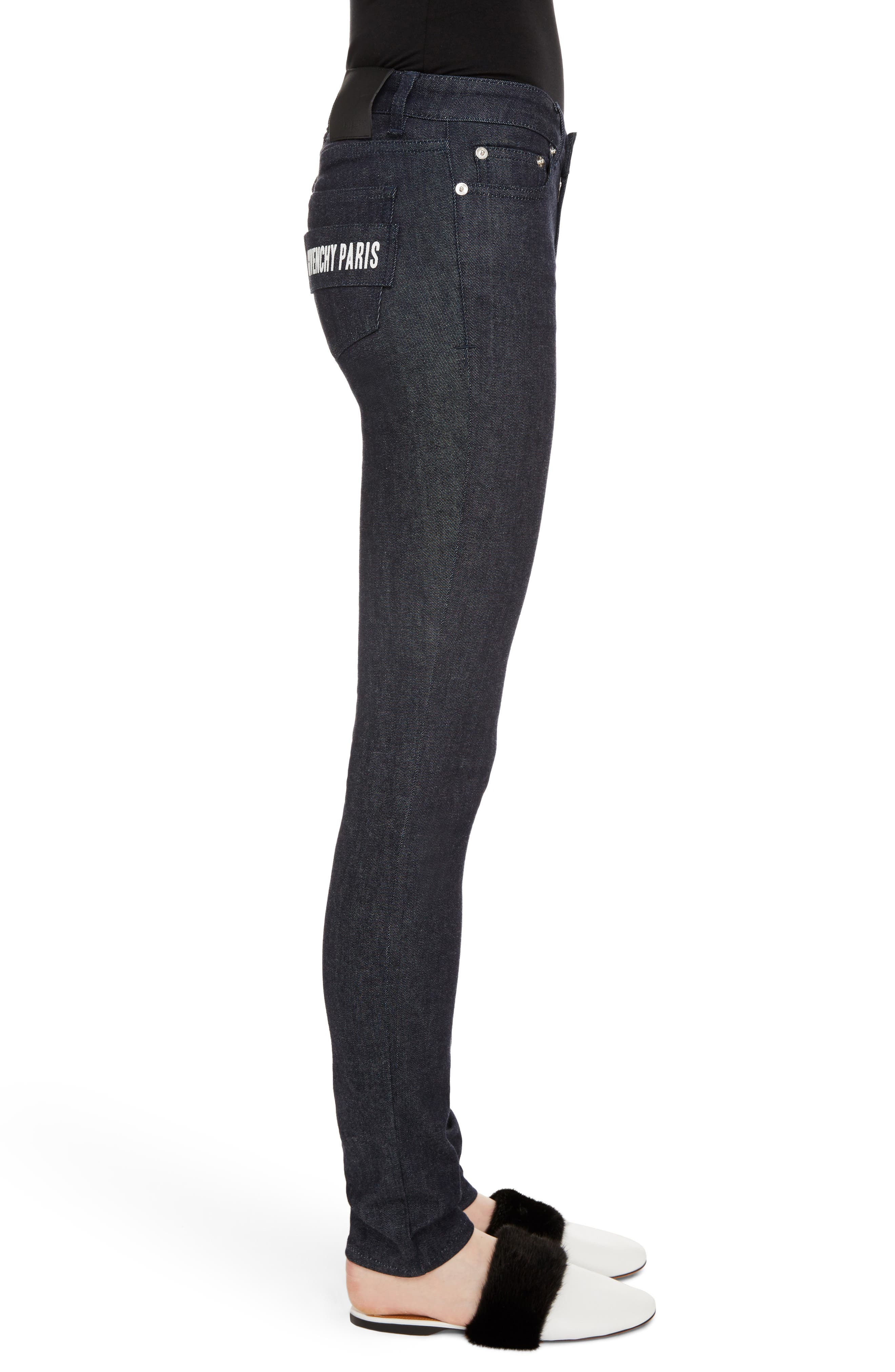 Alternate Image 3  - Givenchy Tab Logo Skinny Jeans